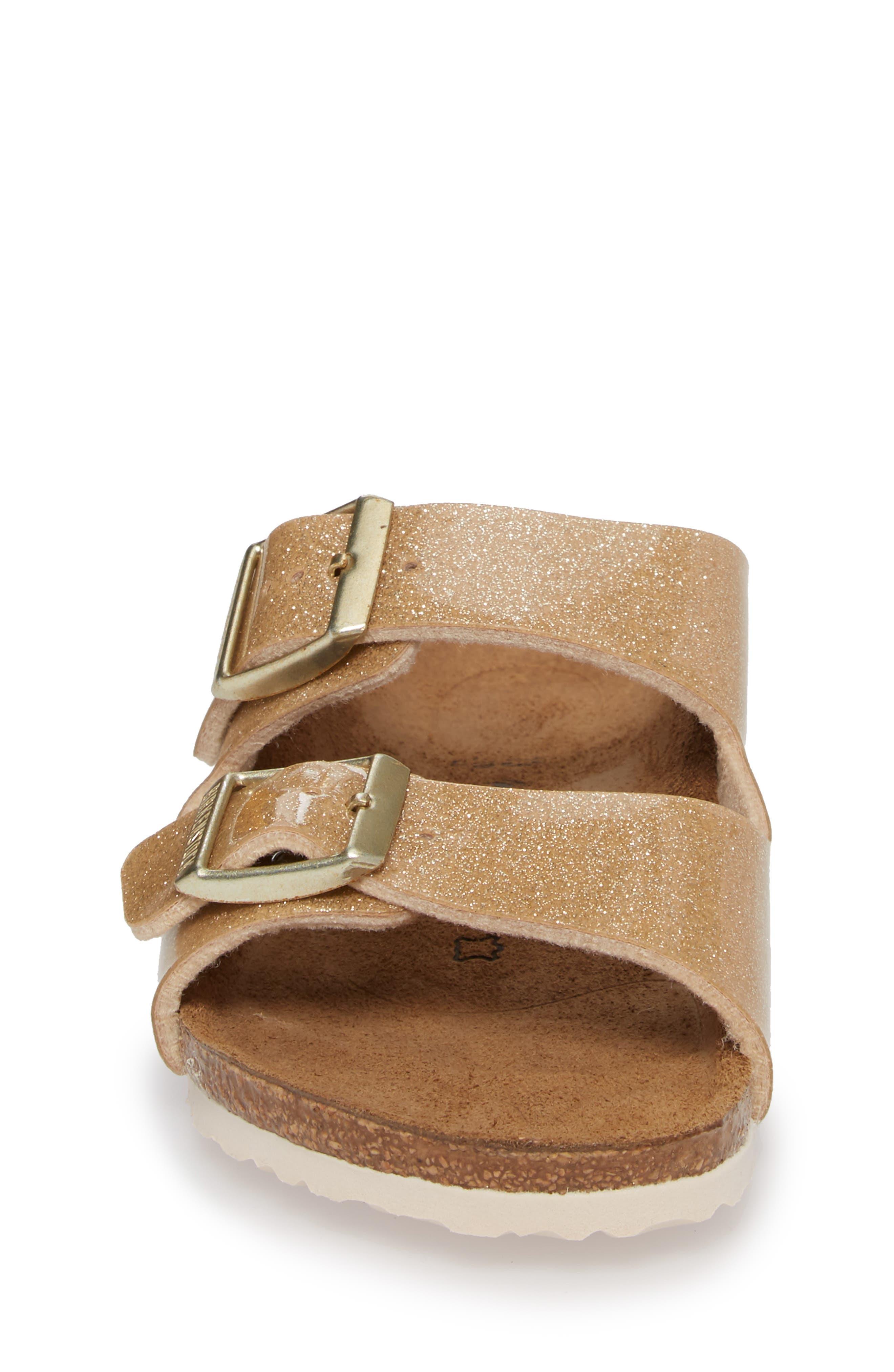 'Arizona Galaxy Birko-Flor' Slide Sandal,                             Alternate thumbnail 4, color,                             Galaxy Gold