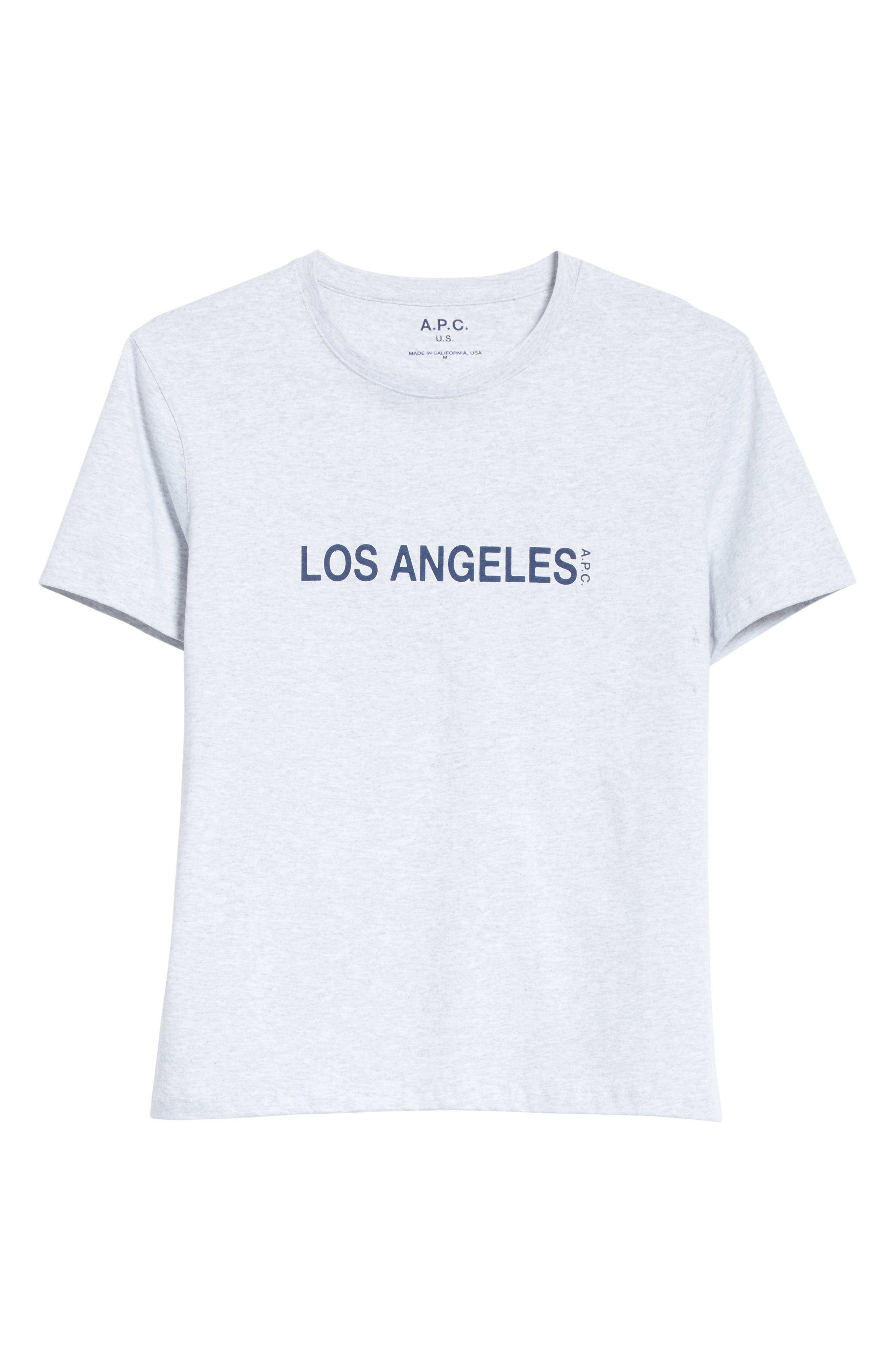 Los Angeles Graphic T-Shirt,                             Alternate thumbnail 6, color,                             Gris Chine Pla