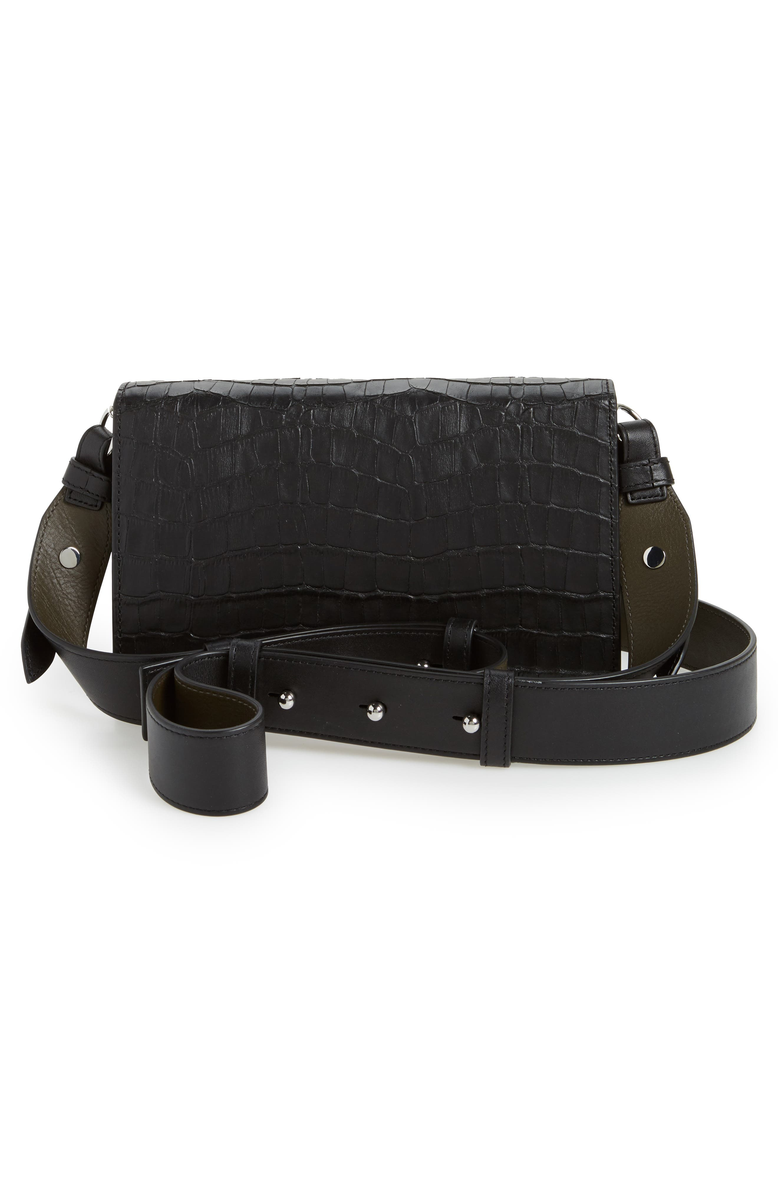 Alternate Image 3  - ALLSAINTS Keel Croc Embossed Leather Box Bag