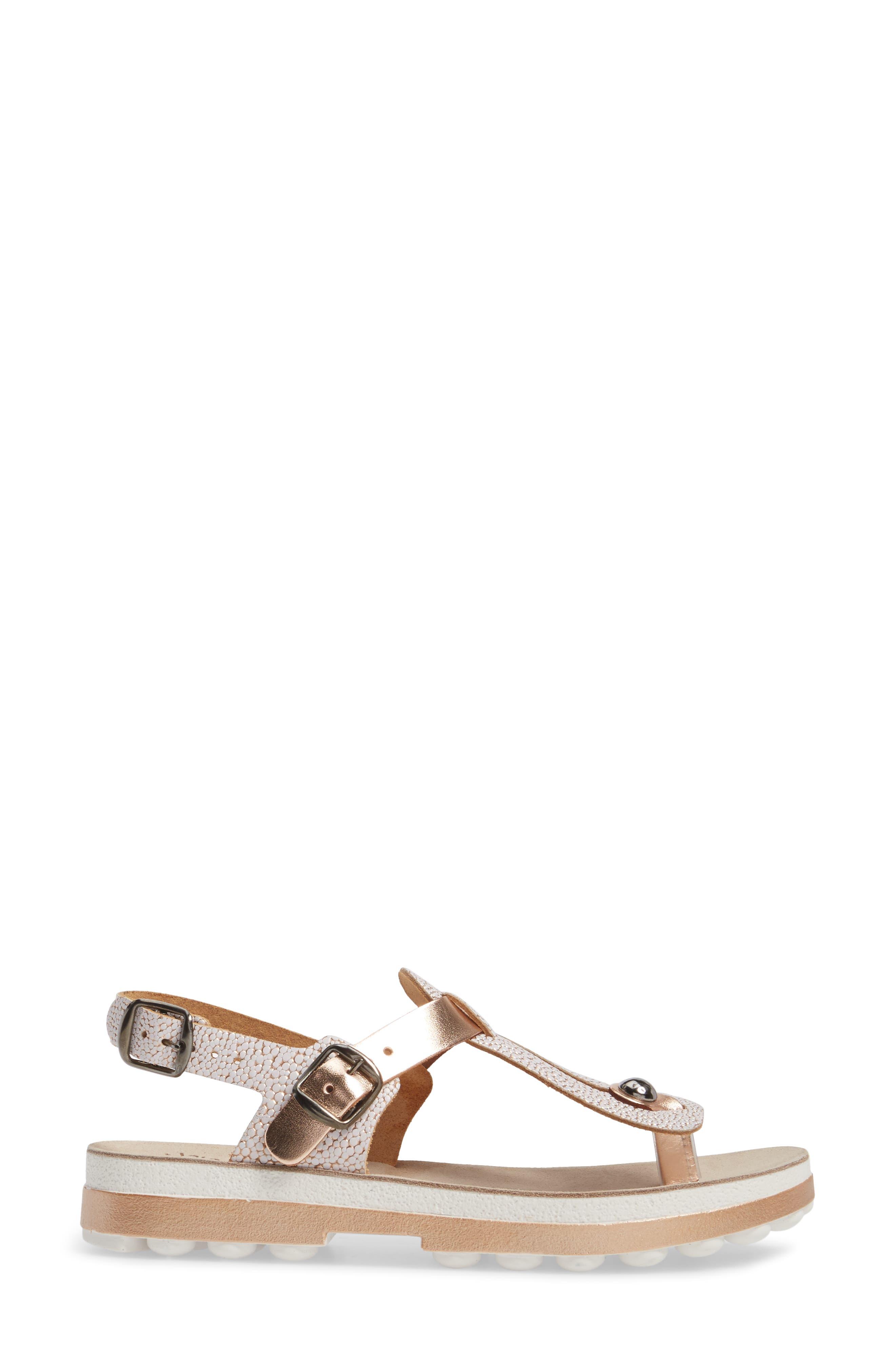 Marlena Fantasy Sandal,                             Alternate thumbnail 3, color,                             Rose Gold Leather