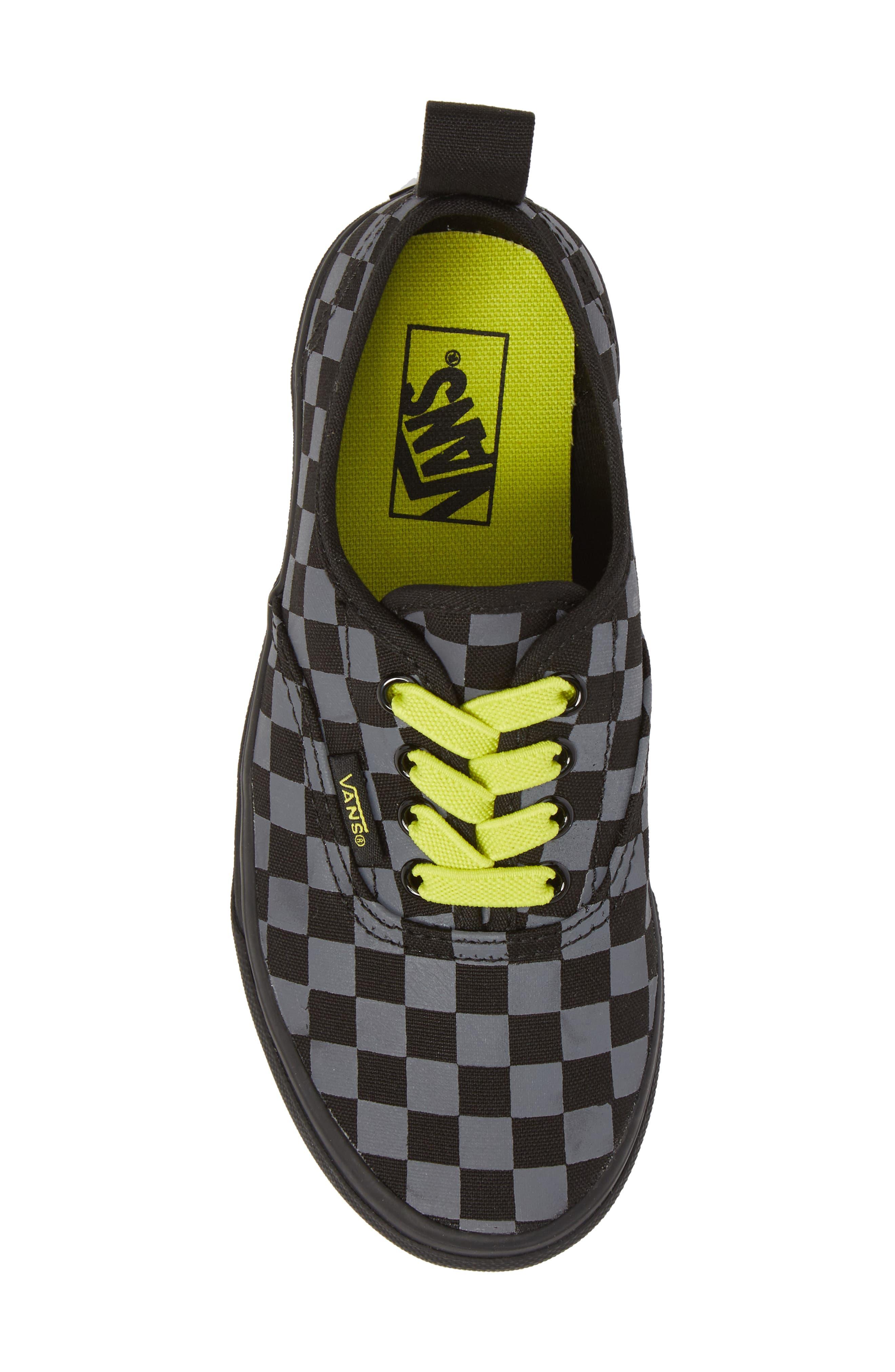 Reflective Checkerboard Authentic Sneaker,                             Alternate thumbnail 5, color,                             Asphalt/ Reflective