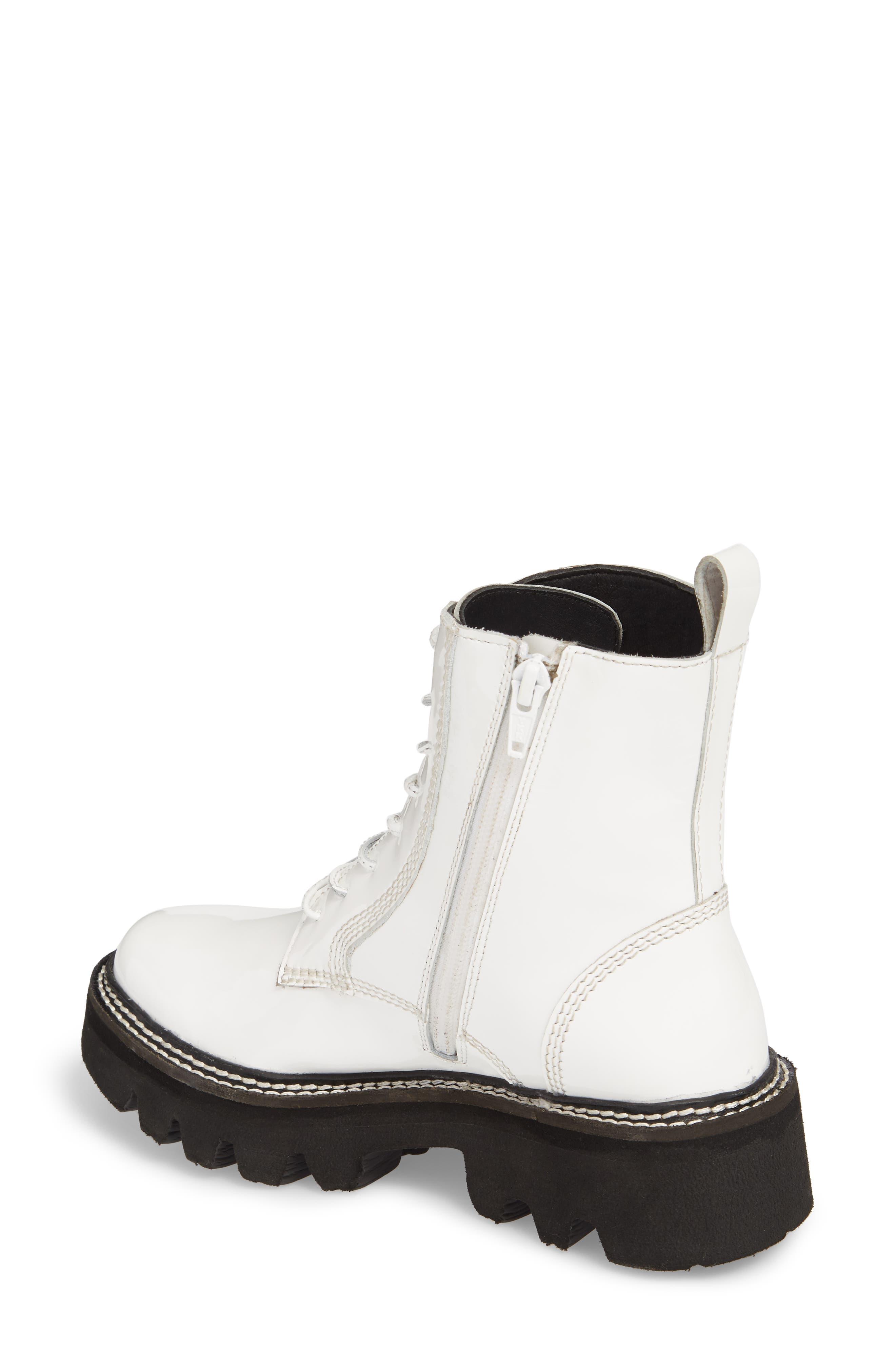 Agira Lug Boot,                             Alternate thumbnail 2, color,                             White Patent Leather