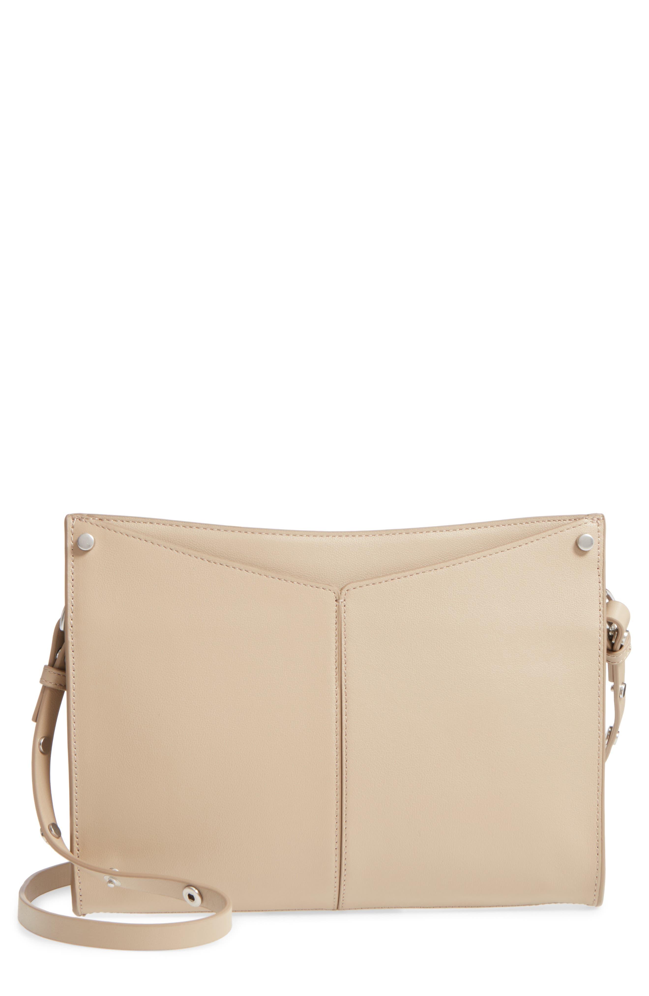 Harrison Leather Crossbody Bag,                         Main,                         color, Tan Crockery