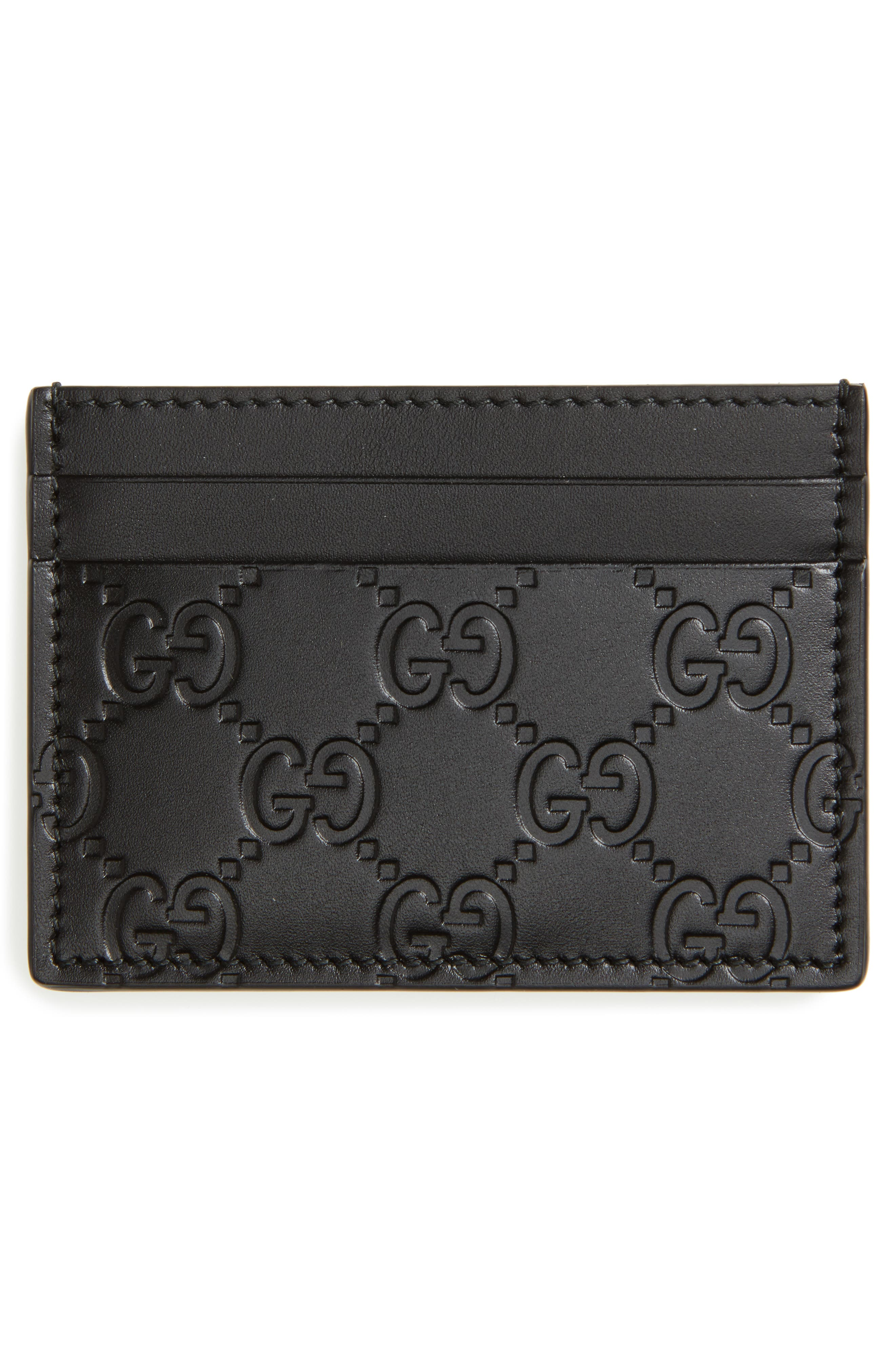 Leather Card Case,                             Alternate thumbnail 2, color,                             1000 Nero