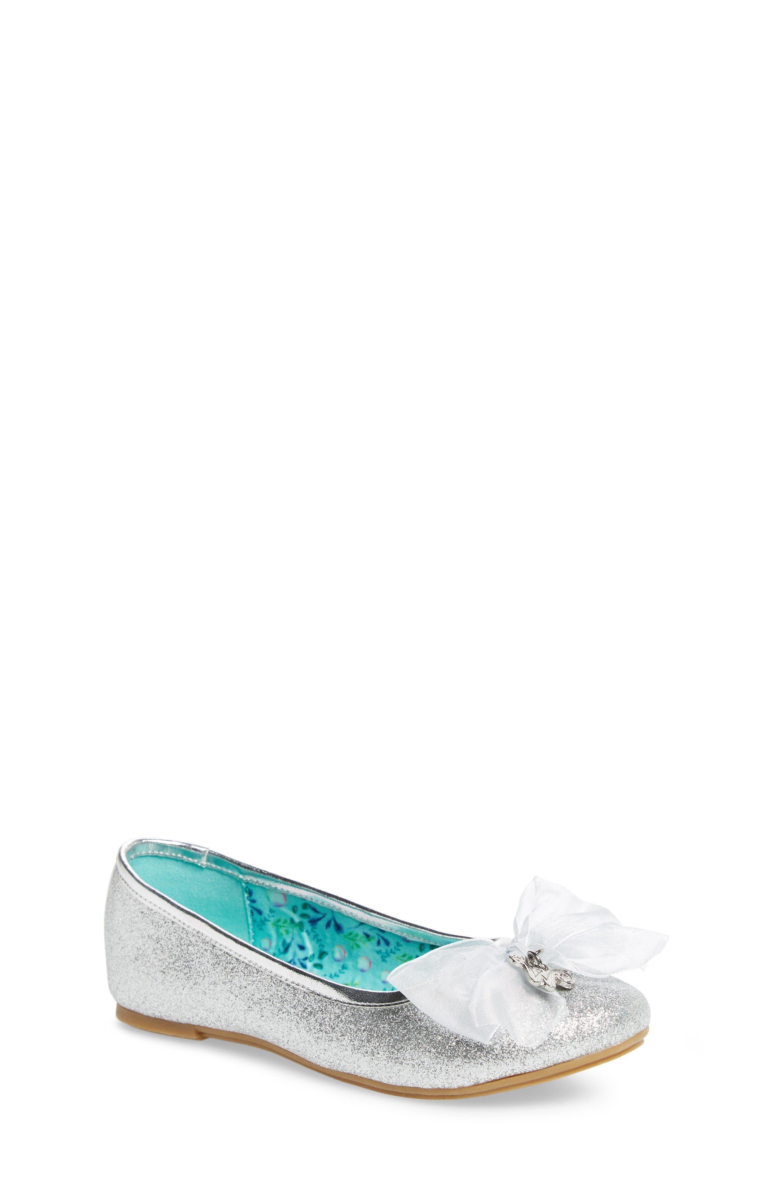 Camille Glitter Ballet Flat,                             Main thumbnail 1, color,                             Silver