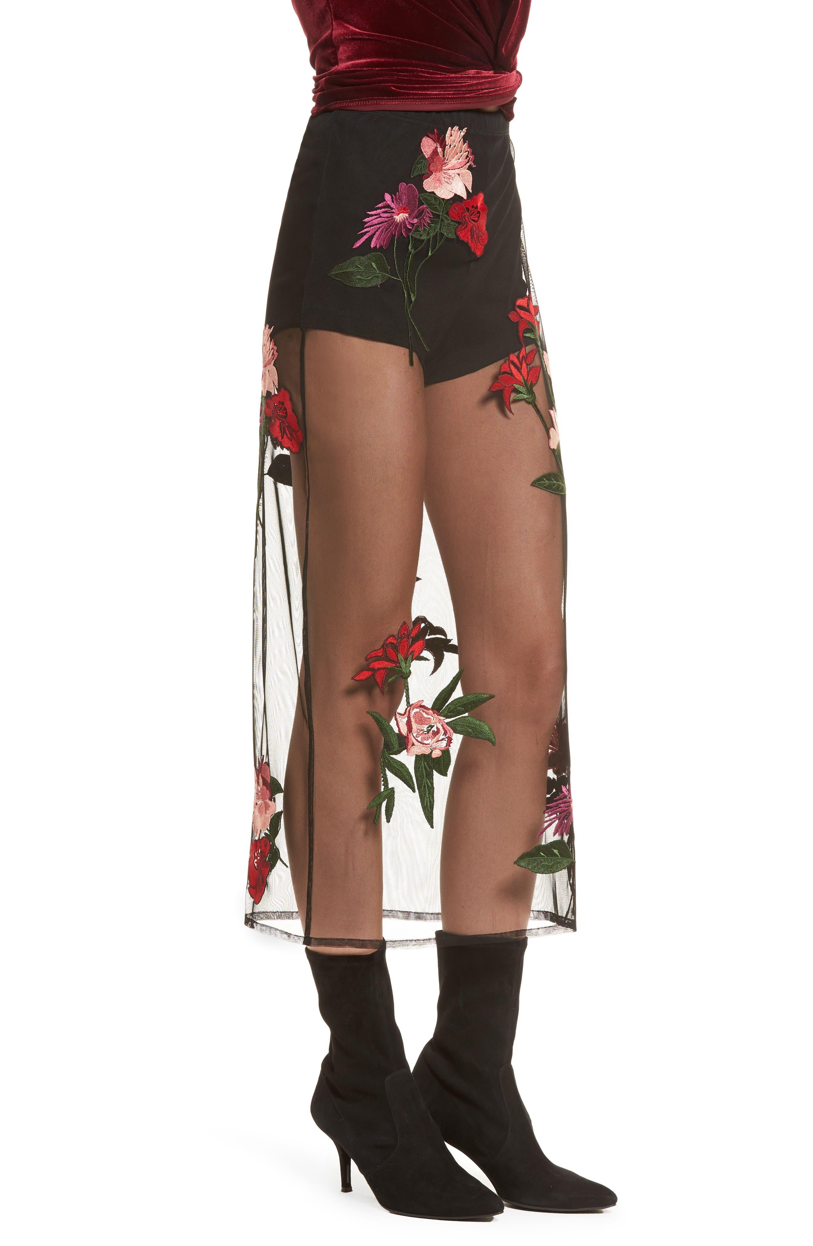 Farrow Midi Skirt,                             Alternate thumbnail 2, color,                             Black