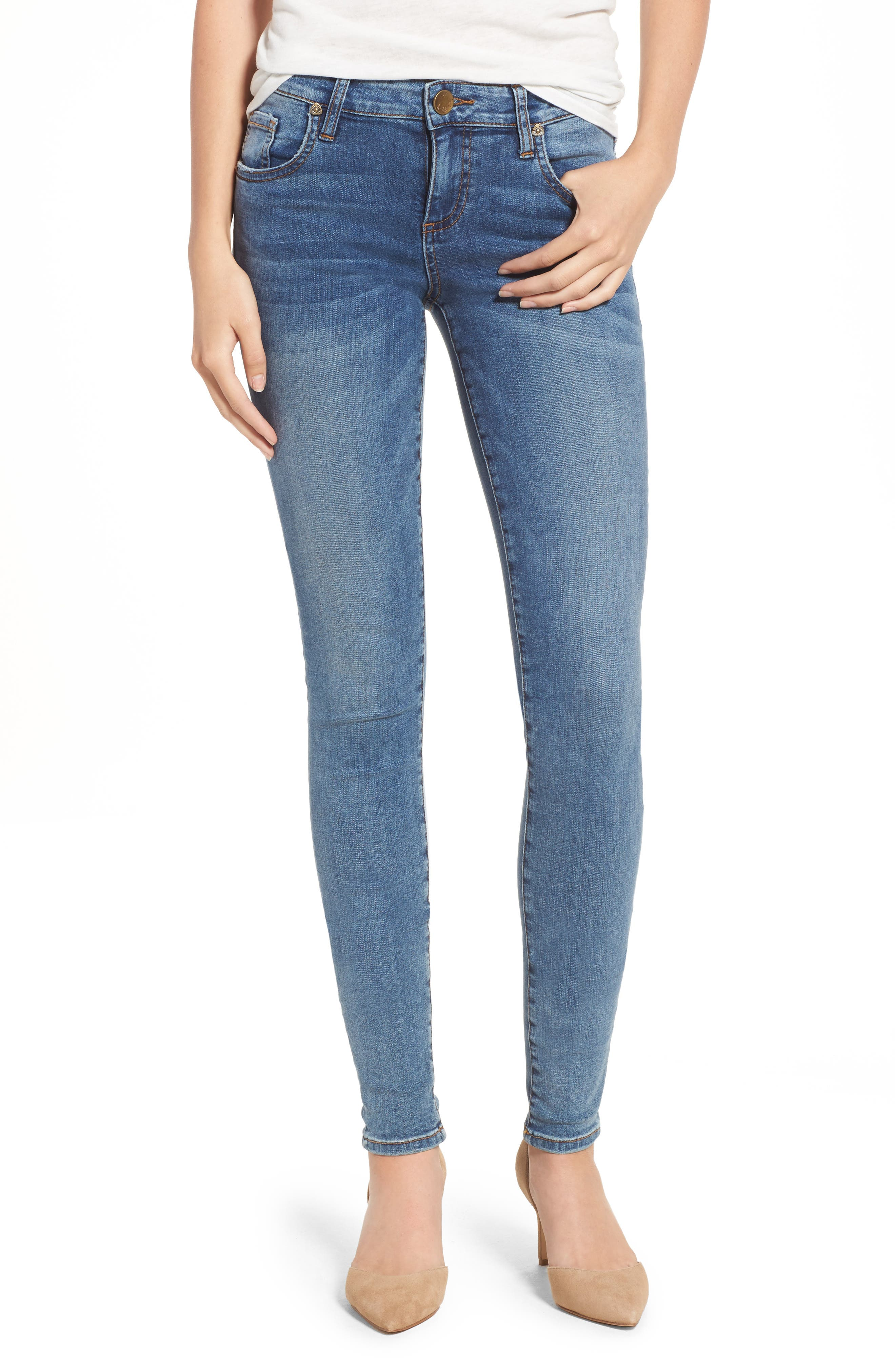 Donna Skinny Jeans,                         Main,                         color, Venturesome