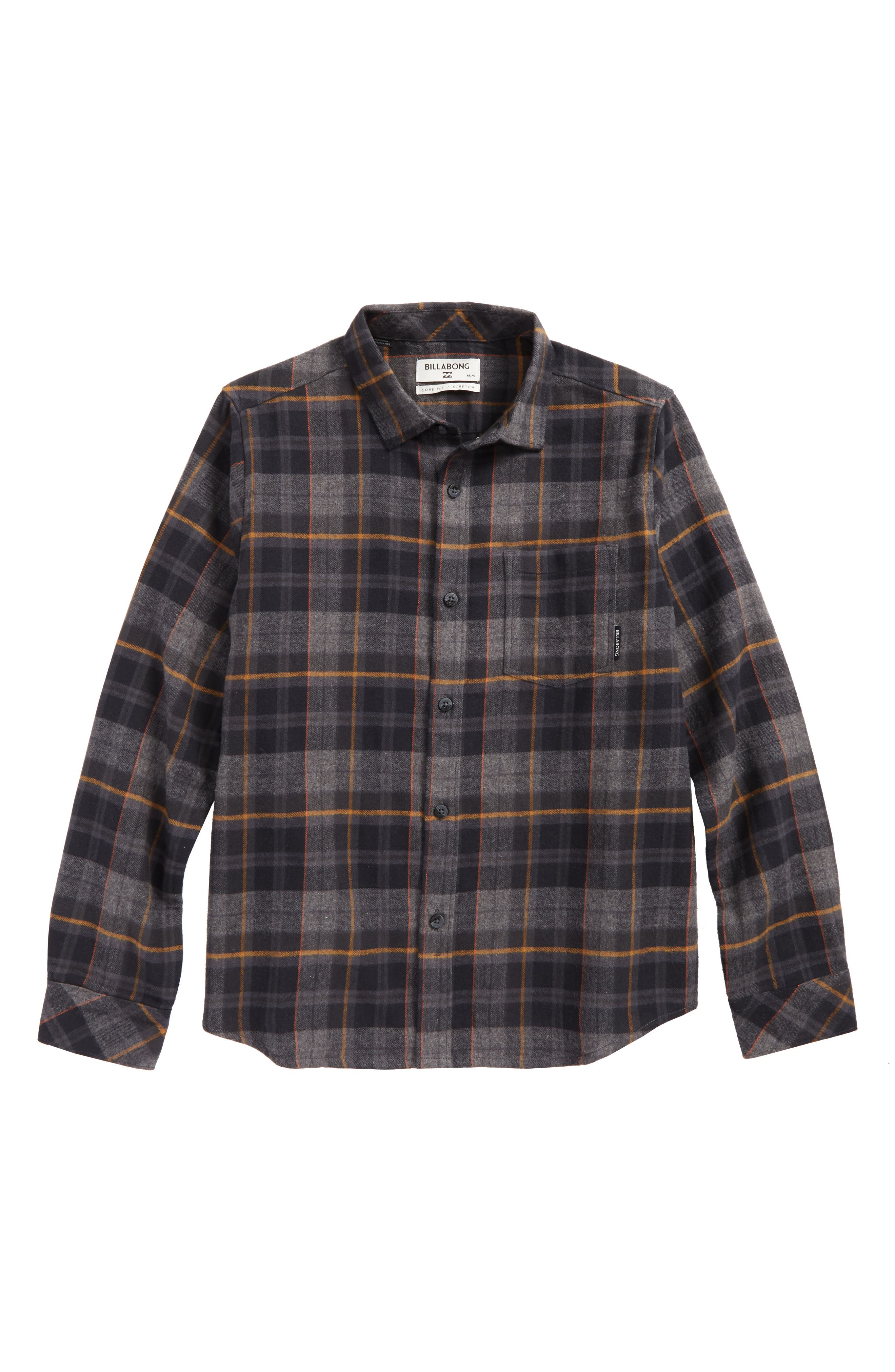 Main Image - Billabong Coastline Plaid Flannel Shirt (Big Boys)