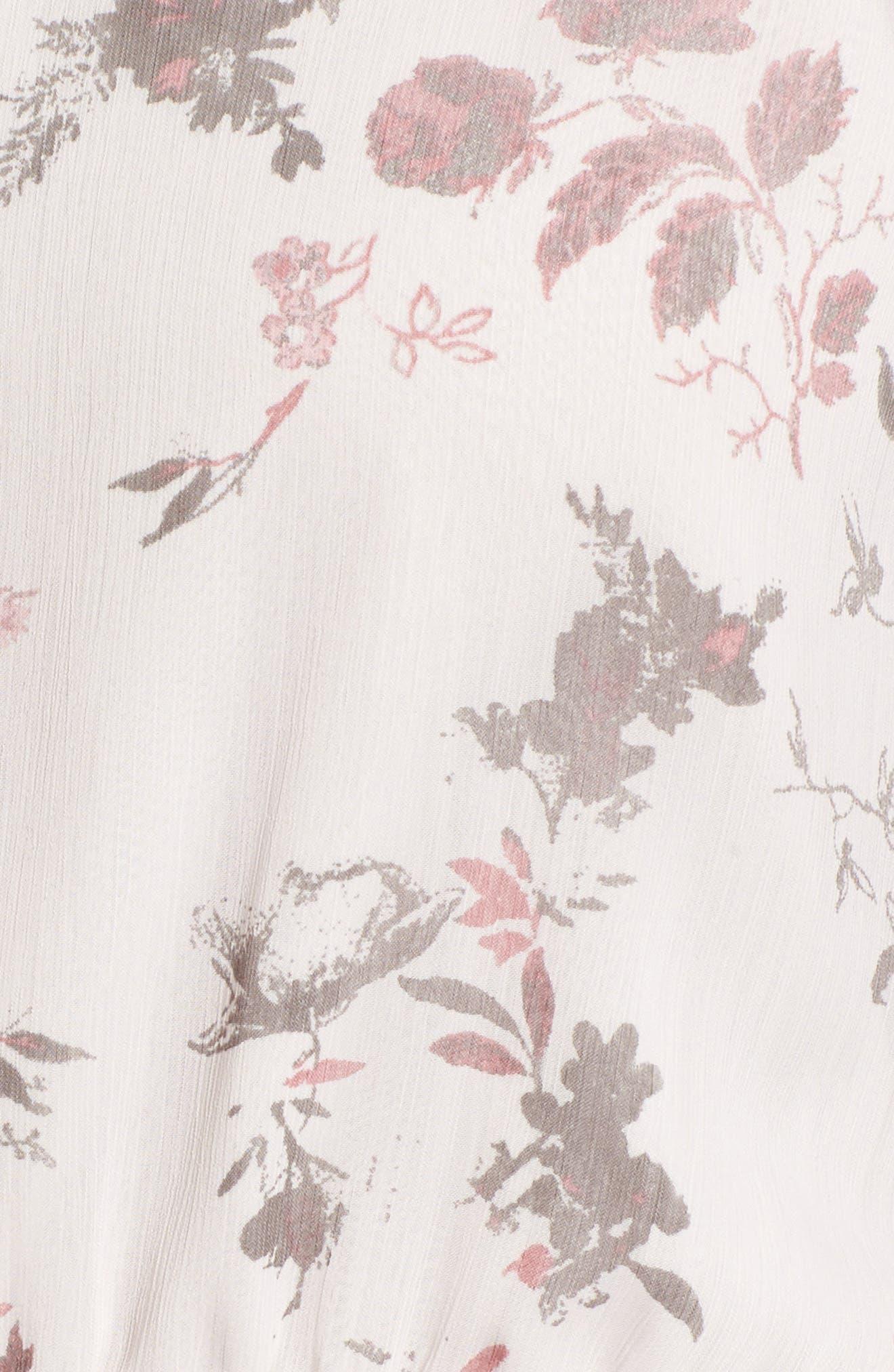 Ruffle Dress,                             Alternate thumbnail 5, color,                             Pink Ice Tonal Toile