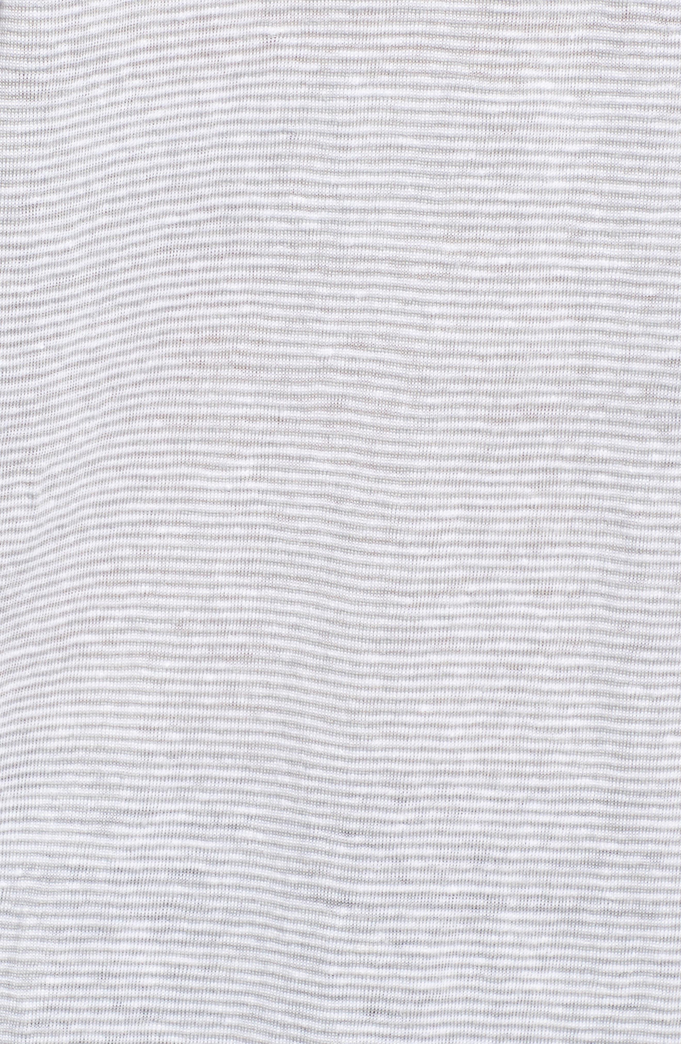 Organic Linen V-Neck Box Tee,                             Alternate thumbnail 5, color,                             Dark Pearl