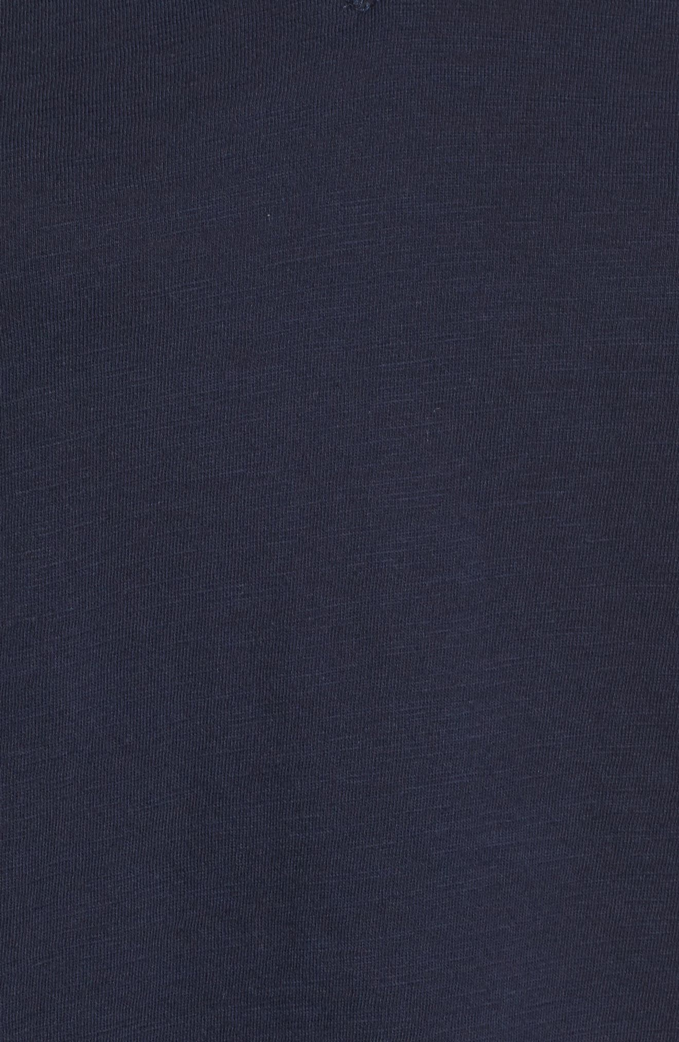 Organic Cotton V-Neck Tee,                             Alternate thumbnail 5, color,                             Midnight