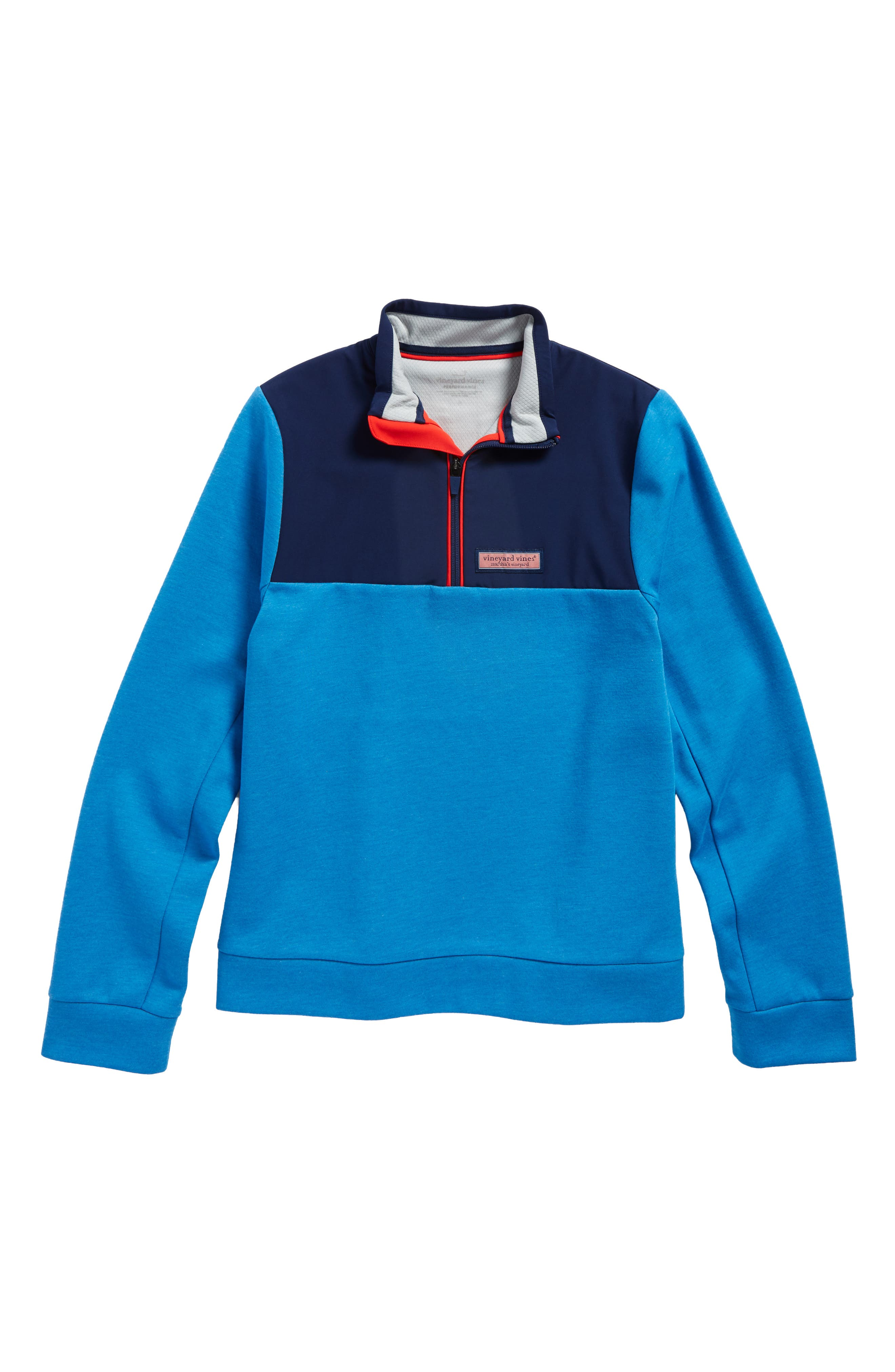 vineyard vines Shep Colorblock Quarter Zip Pullover (Big Boys)