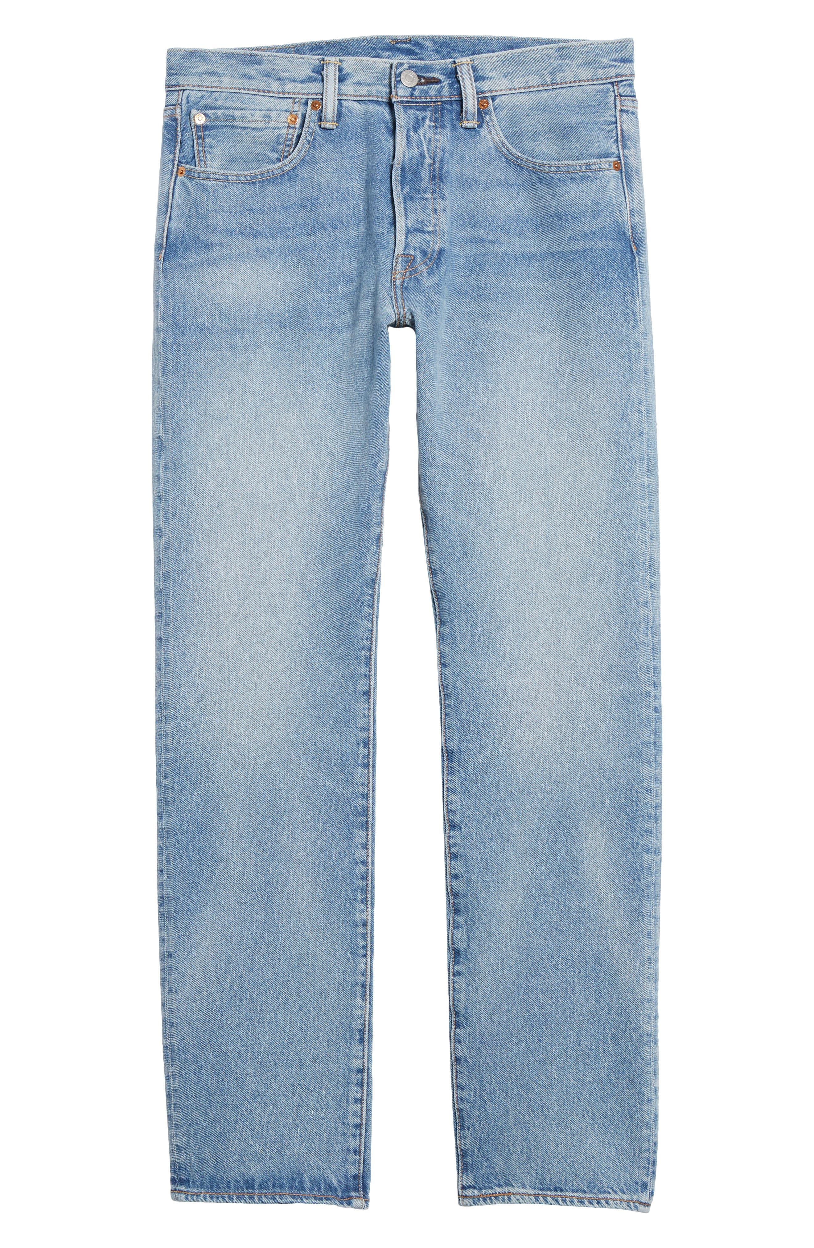 501<sup>™</sup> Slim Straight Leg Jeans,                             Alternate thumbnail 6, color,                             Mowhawk