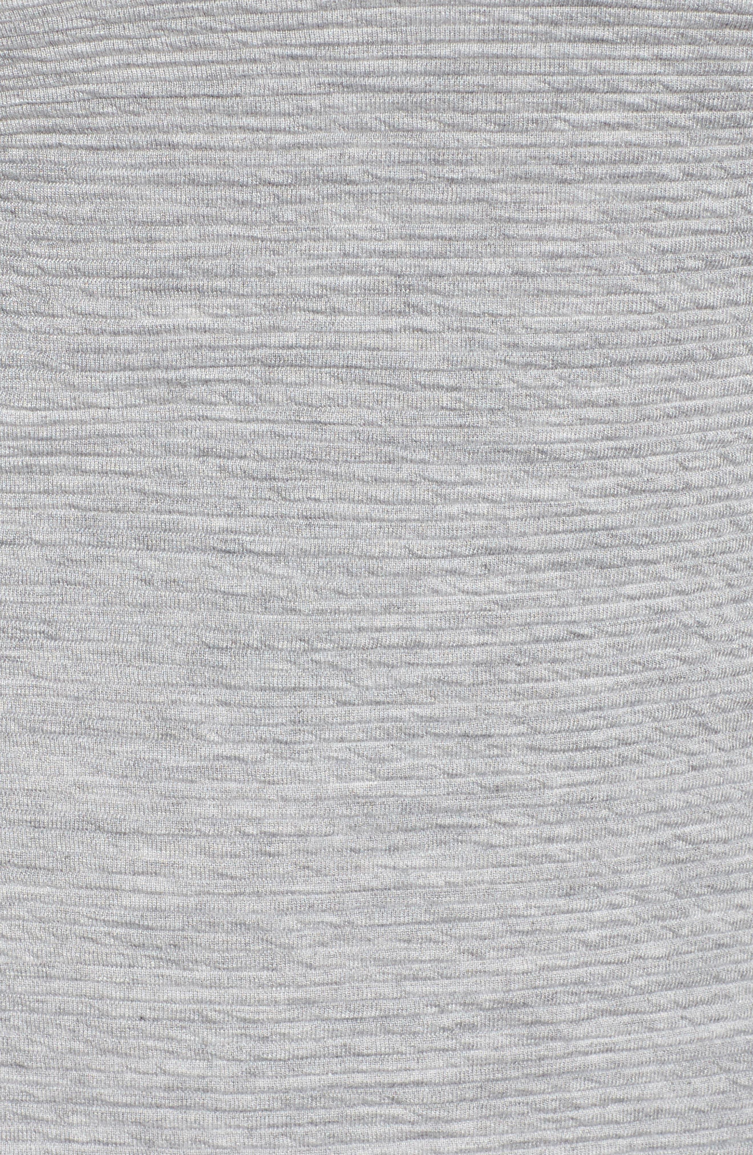 Sudan Marl Sheath Dress,                             Alternate thumbnail 5, color,                             Mid Grey Mel