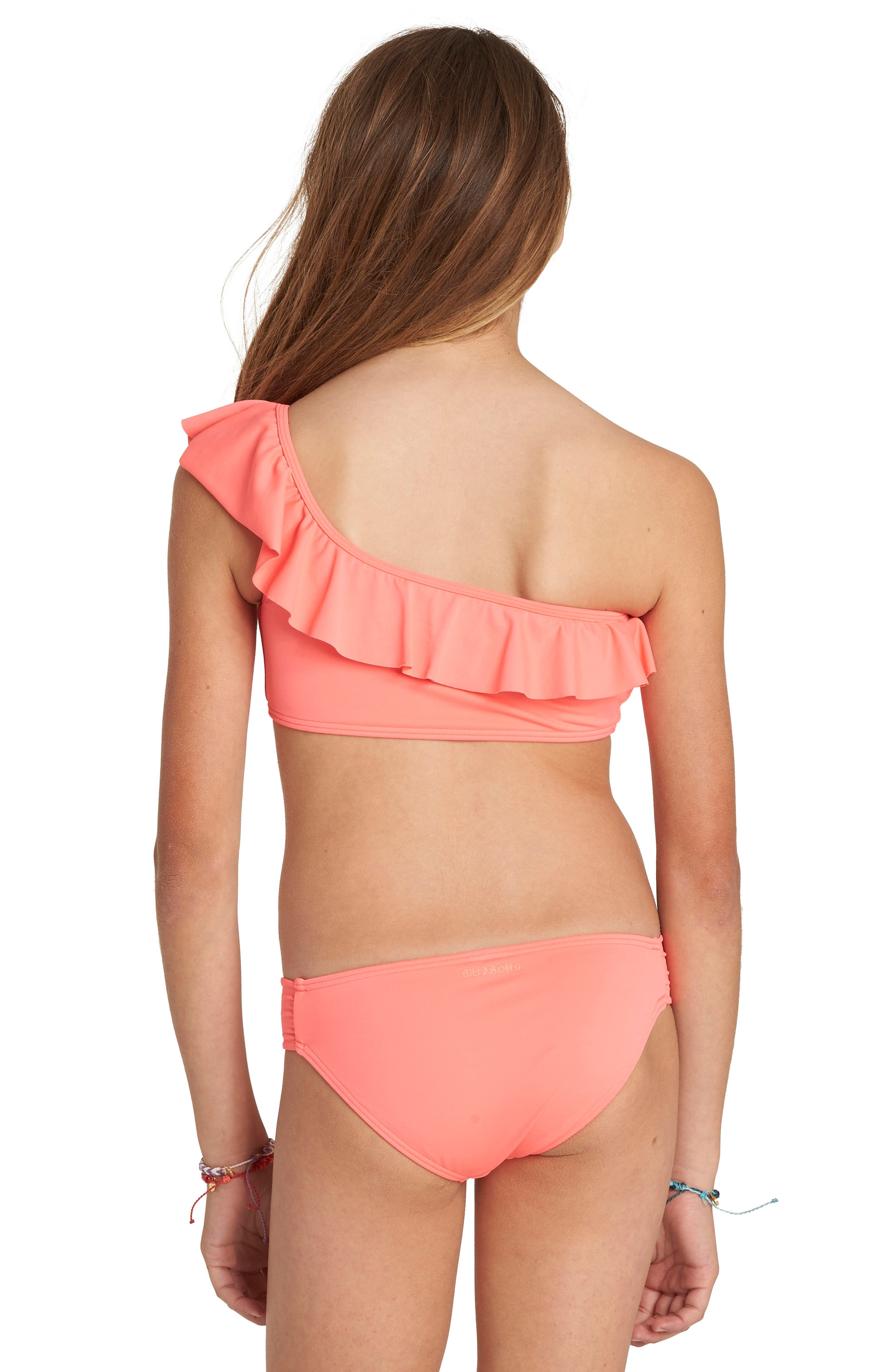 Sol Searcher Two-Piece Swimsuit,                             Alternate thumbnail 2, color,                             Neon Coral