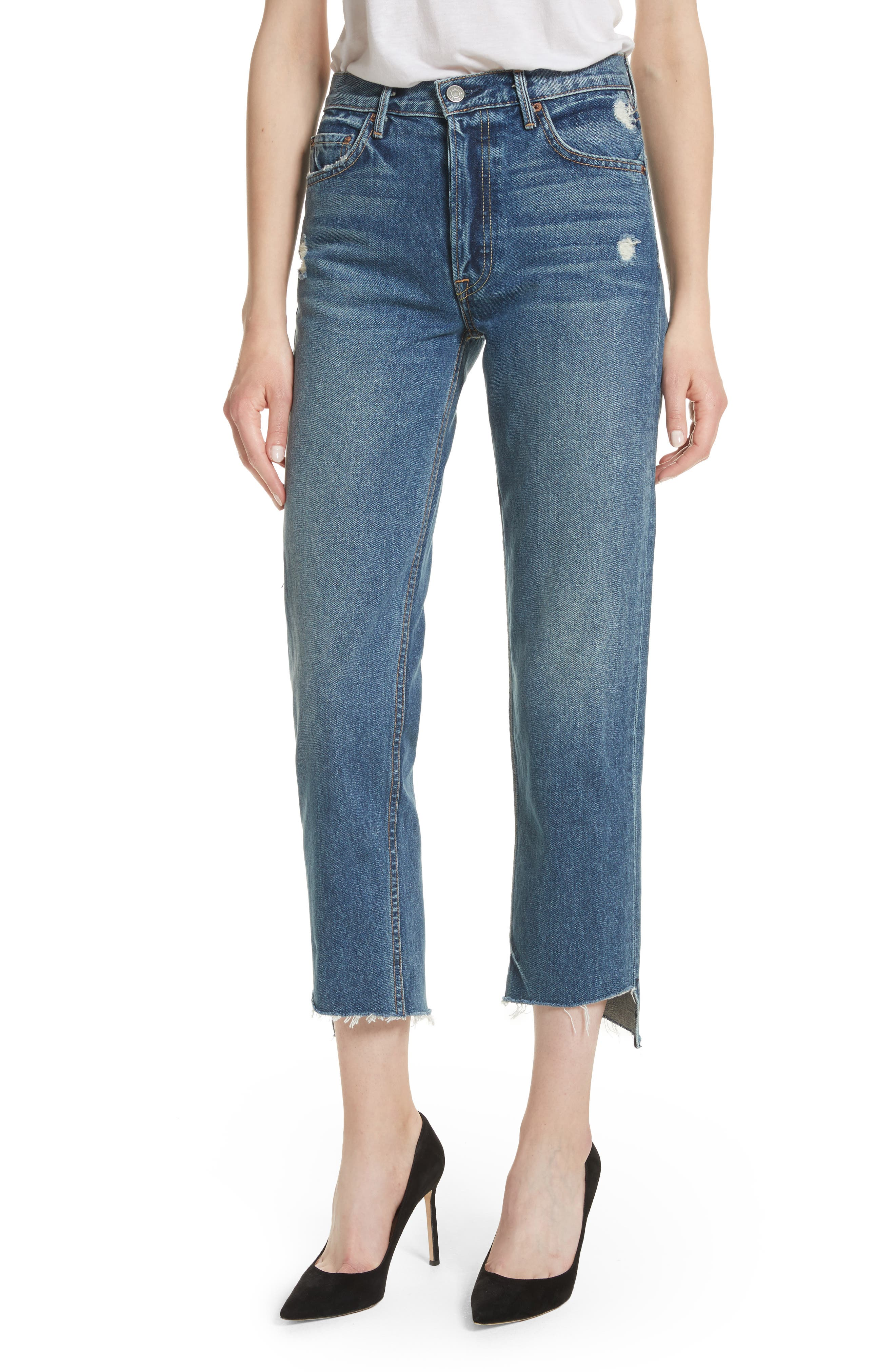 Alternate Image 1 Selected - GRLFRND Helena Rigid High Waist Straight Jeans (Close To You)