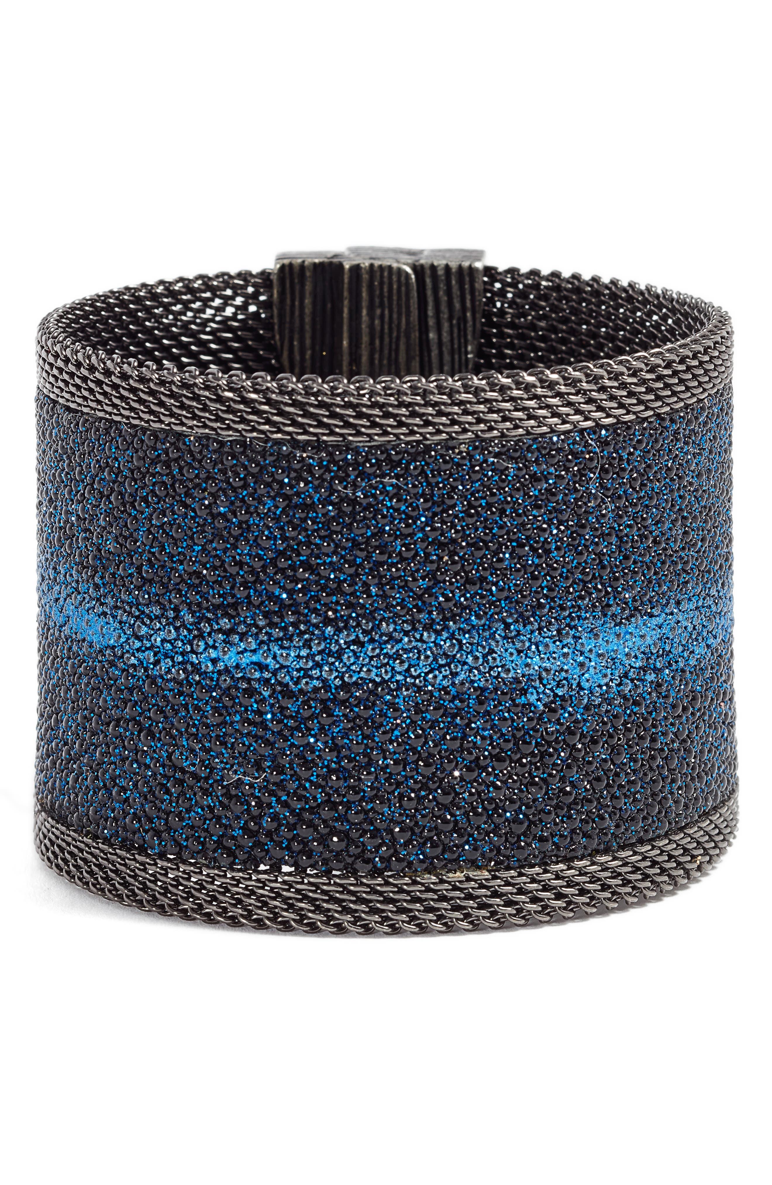 Shimmer Stingray Bracelet,                         Main,                         color, Cobalt Blue/ Gunmetal