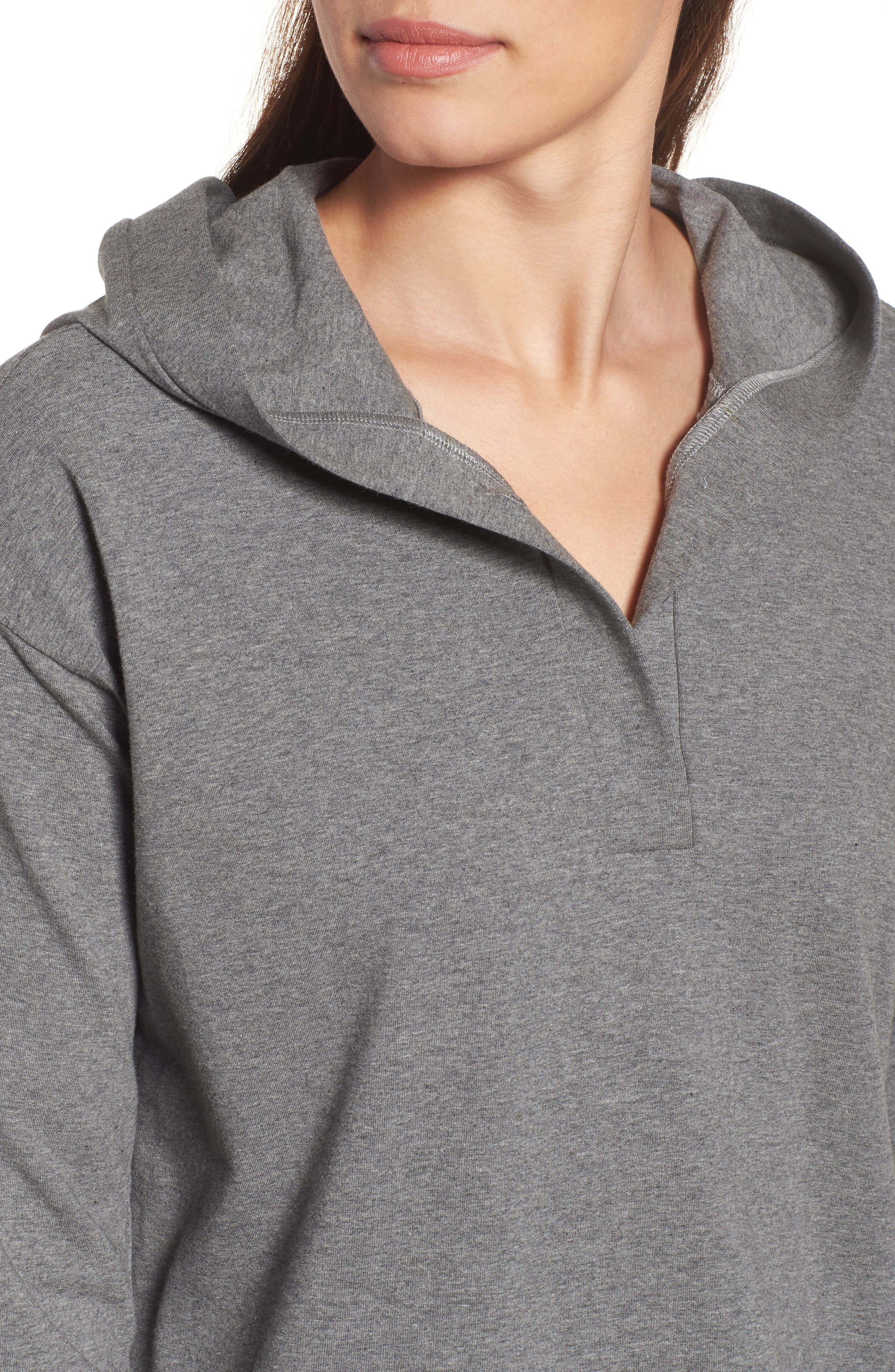 Hooded Tunic,                             Alternate thumbnail 4, color,                             Grey