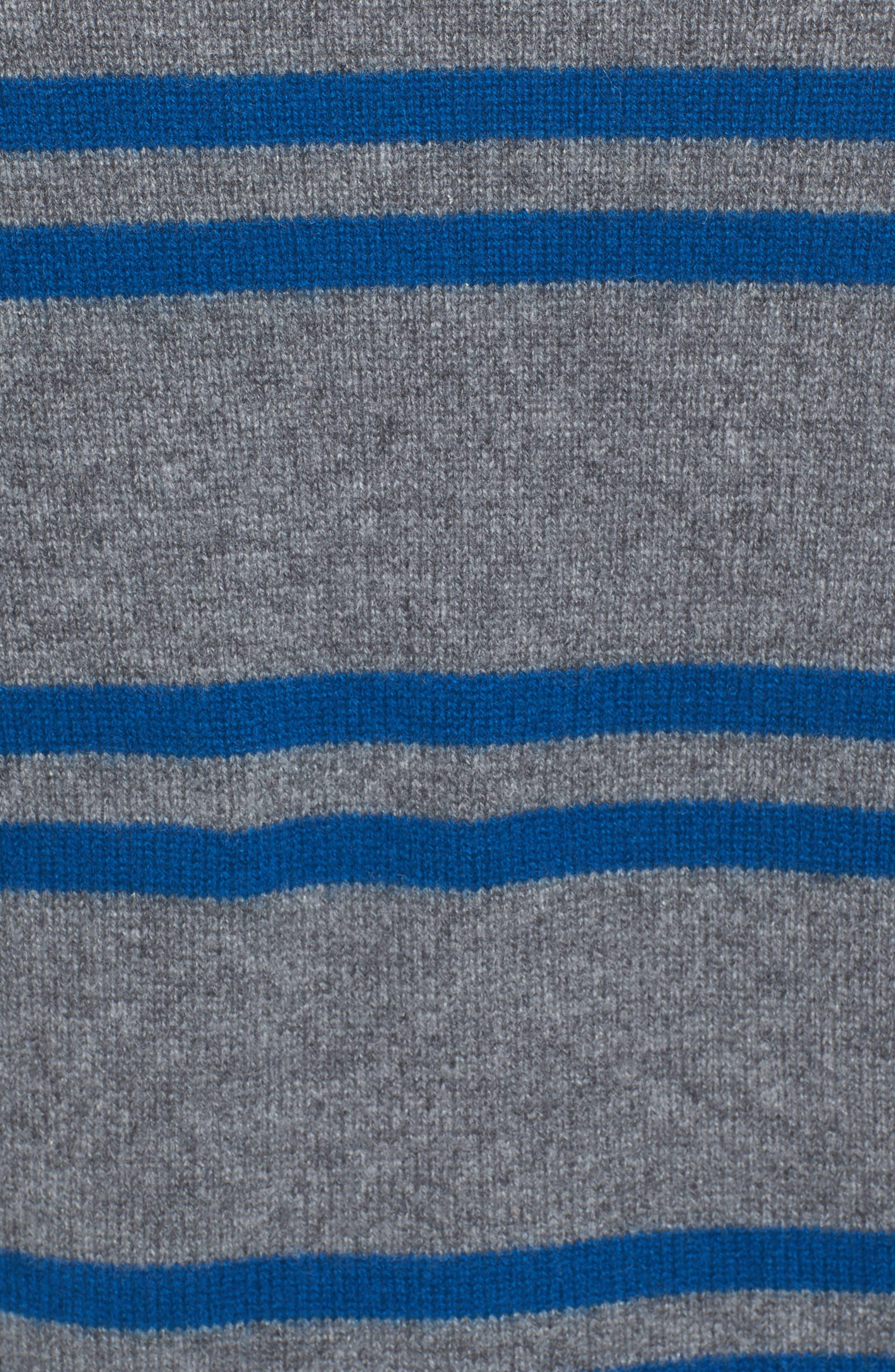 Alternate Image 5  - James Perse Stripe Cashmere Sweatshirt