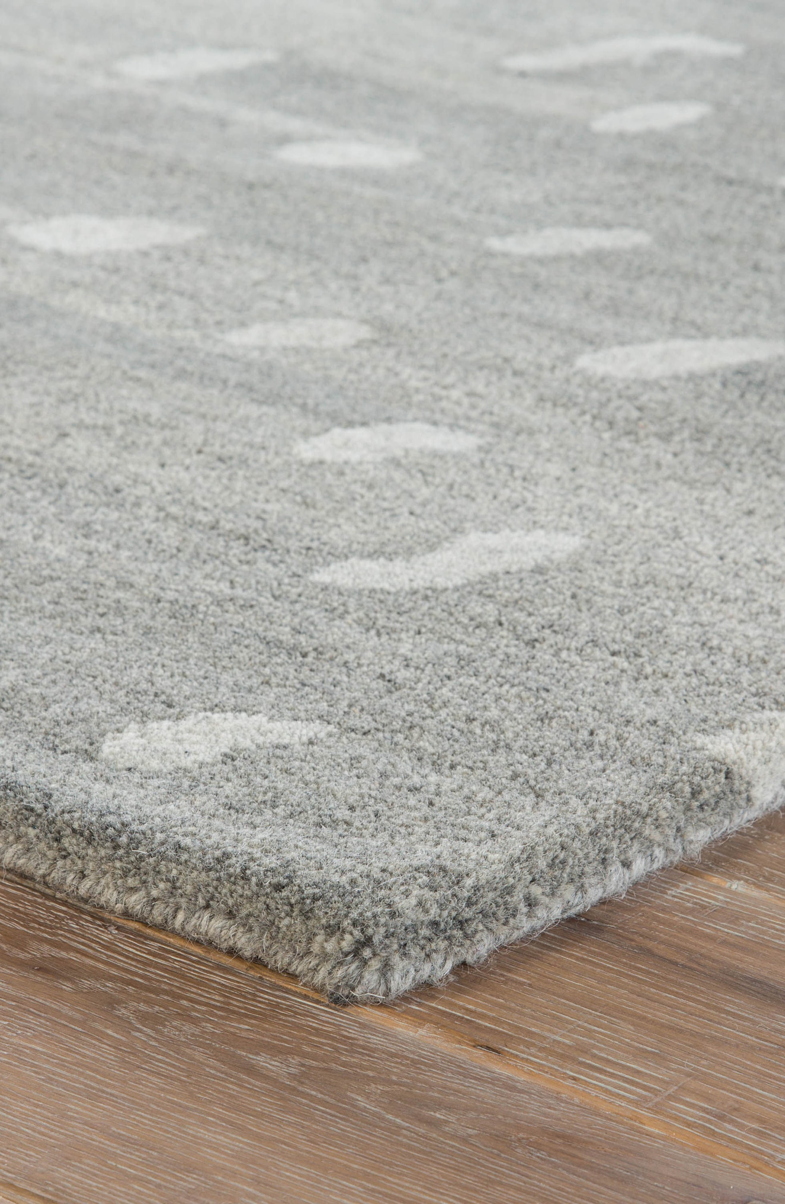 gramercy wool rug,                             Alternate thumbnail 2, color,                             Heather Gray