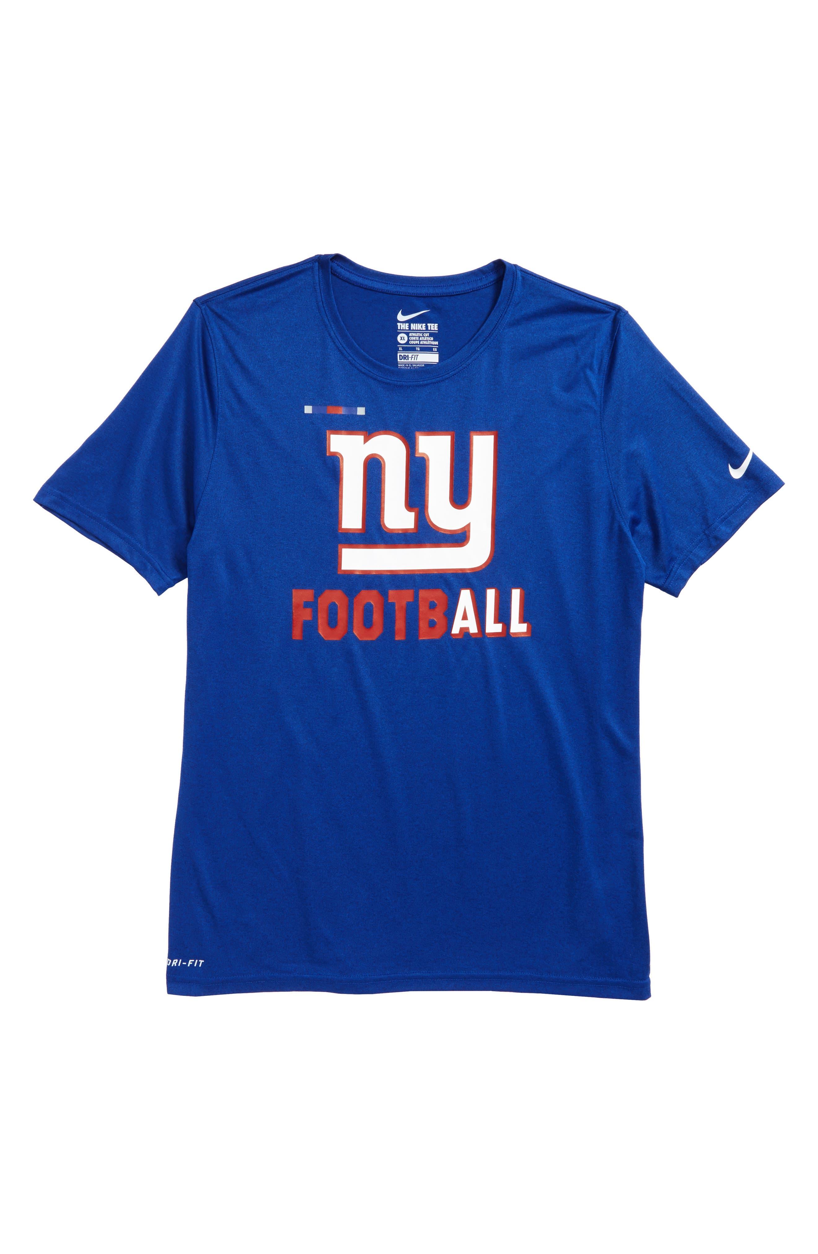Nike NFL - New York Giants Dry Shirt,                         Main,                         color, Rush Blue