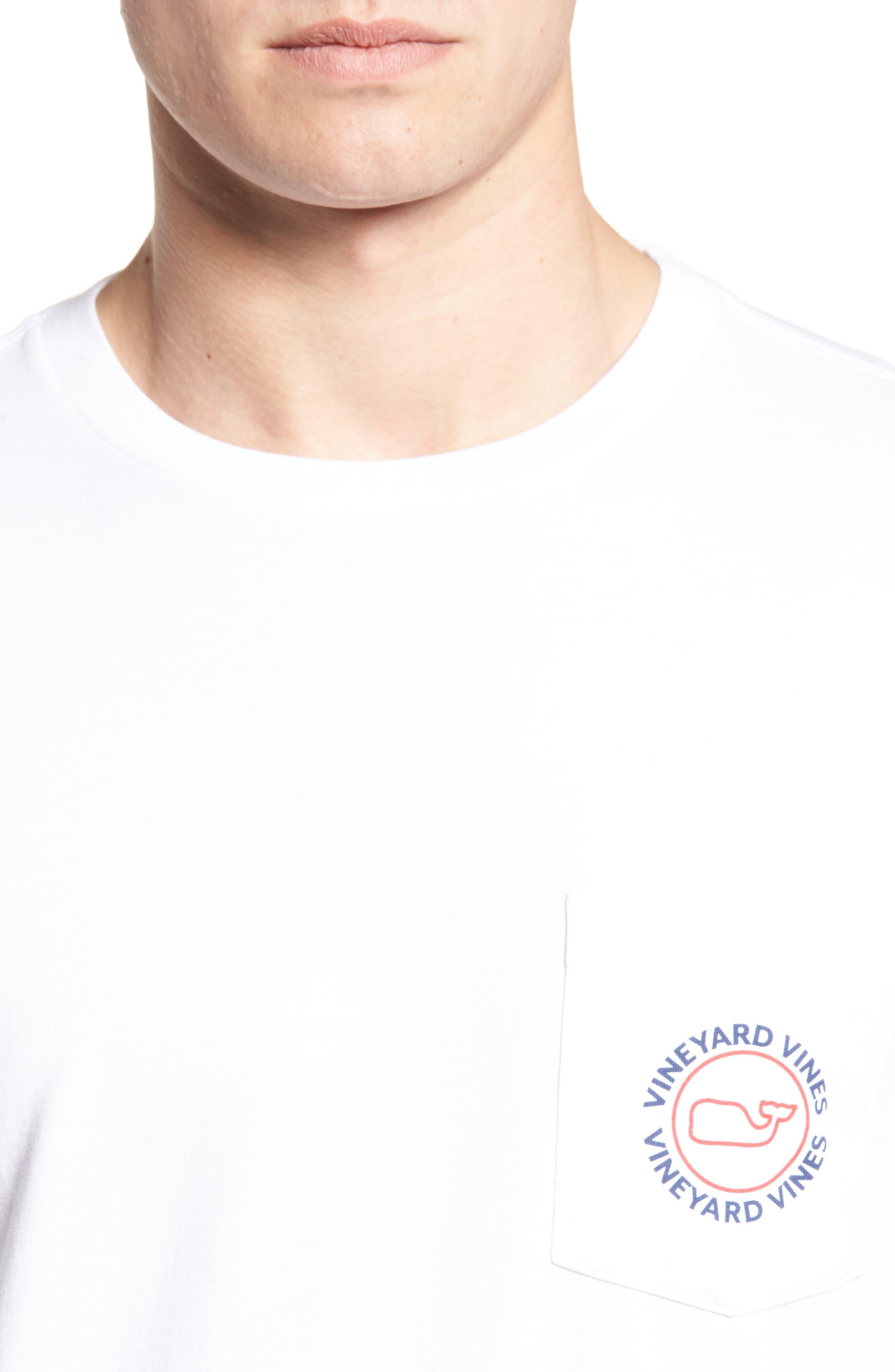 Logo Graphic Long Sleeve T-Shirt,                             Alternate thumbnail 4, color,                             White Cap