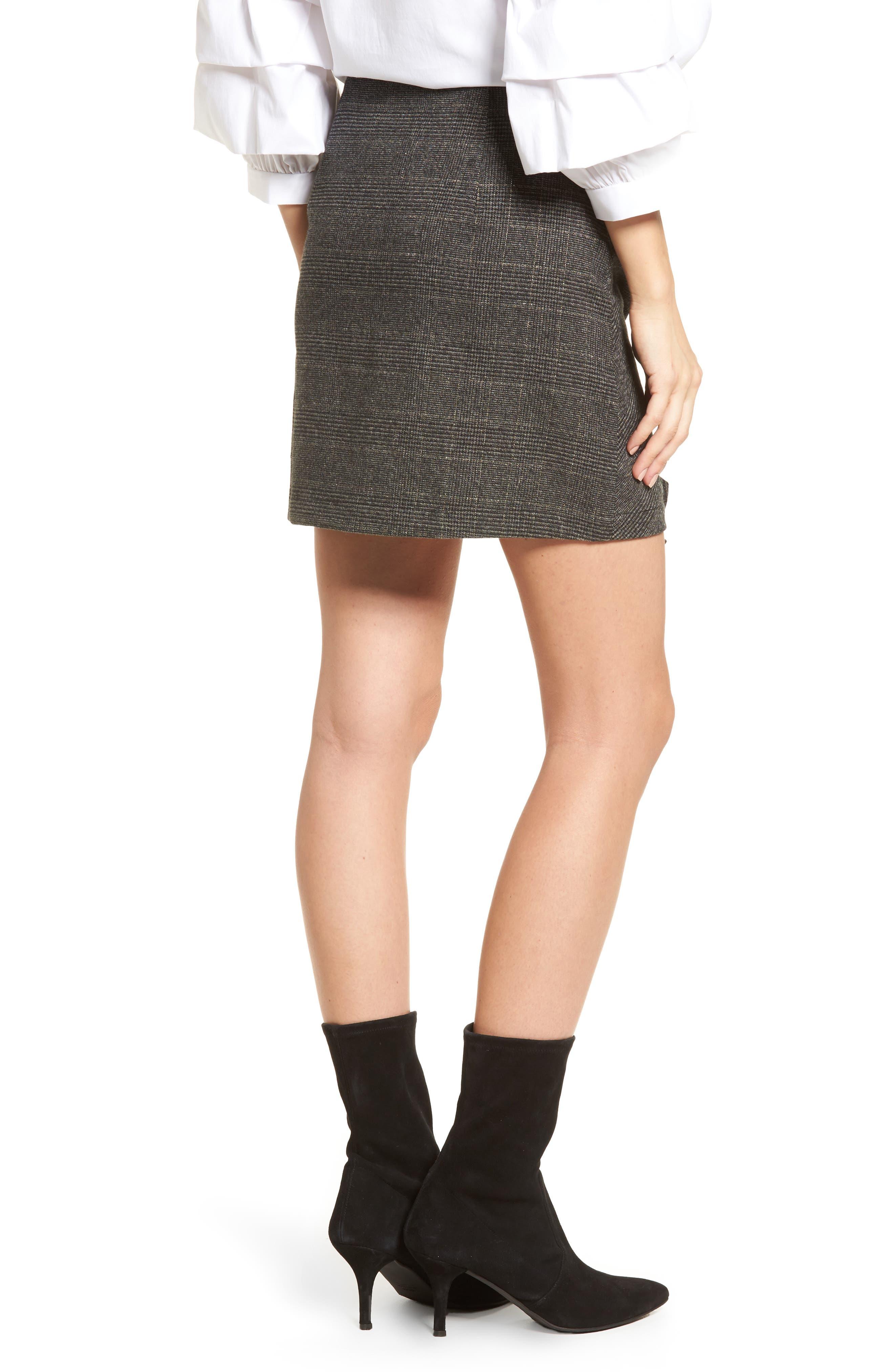 Alternate Image 2  - BP. Glen Plaid Ruched Ruffle Skirt