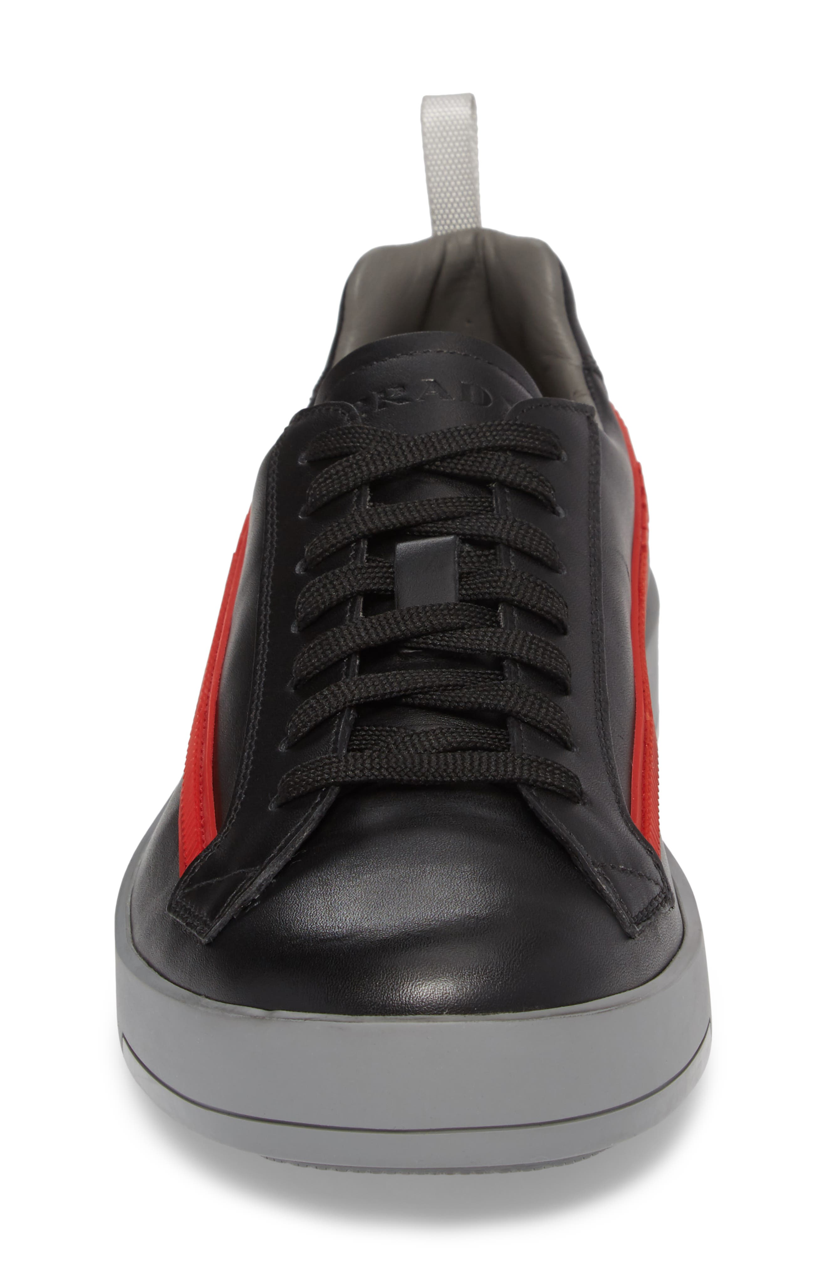 Linea Rossa Sneaker,                             Alternate thumbnail 4, color,                             Nero Bianco