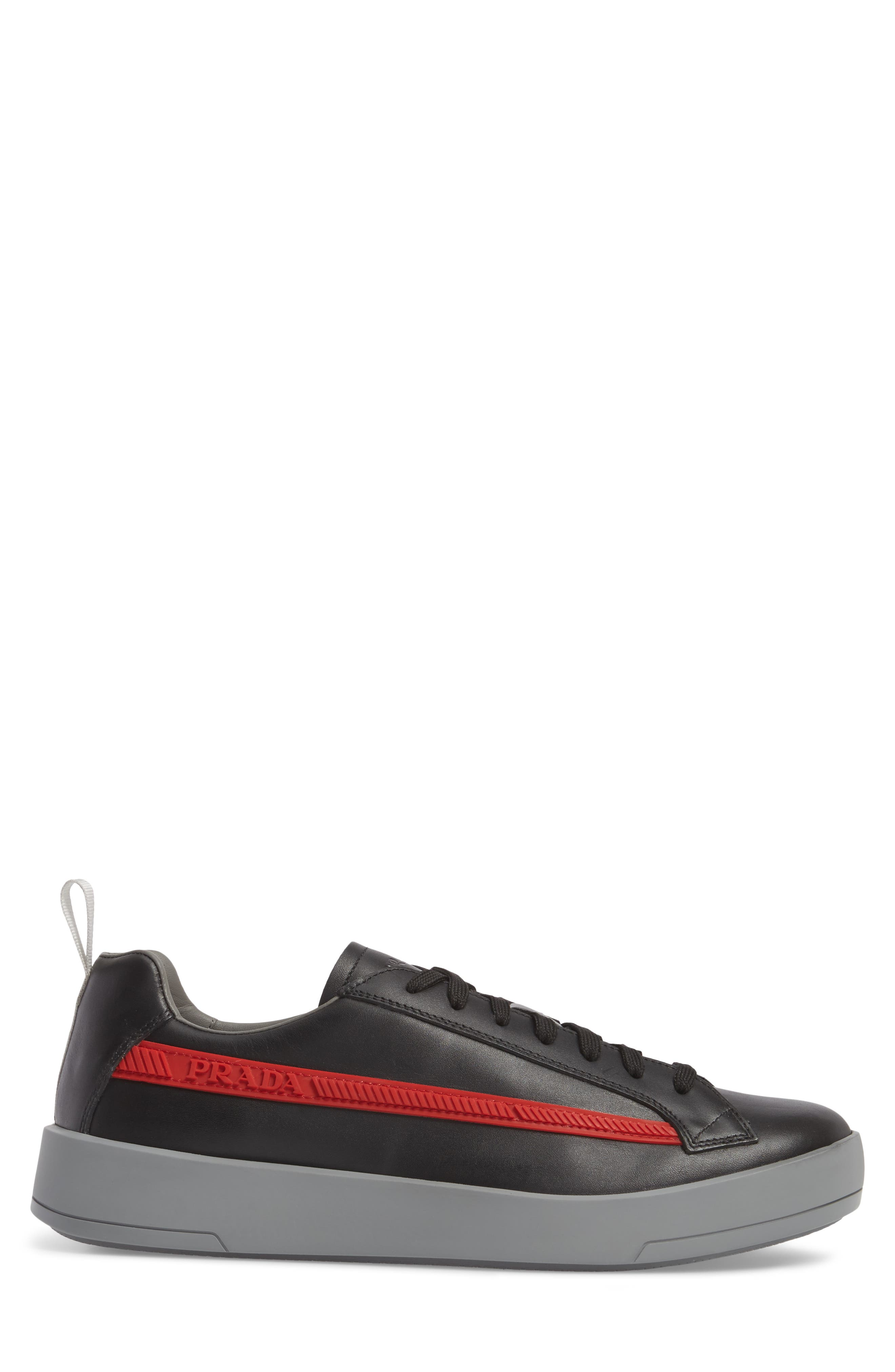 Linea Rossa Sneaker,                             Alternate thumbnail 3, color,                             Nero Bianco