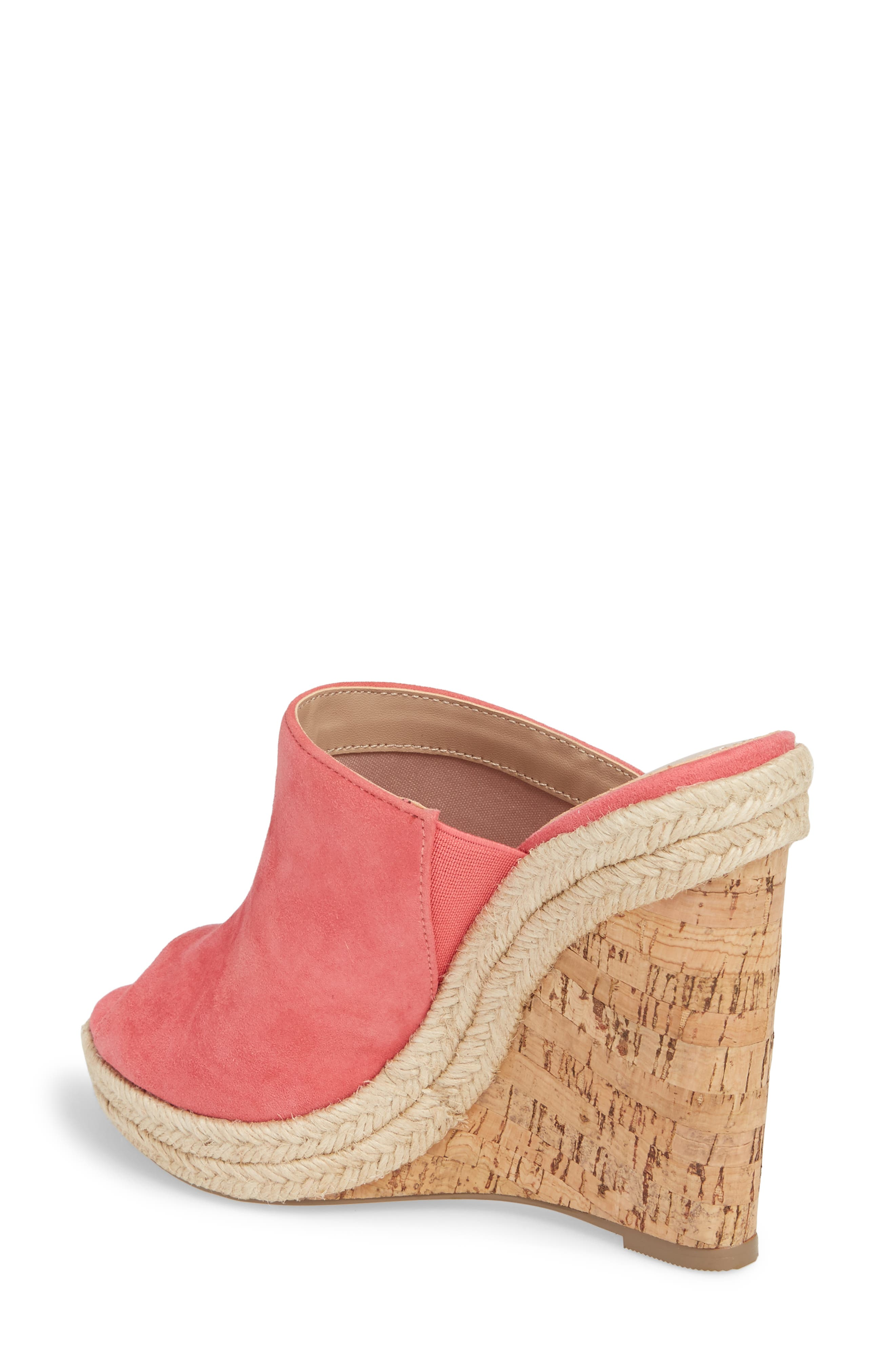 Balen Wedge,                             Alternate thumbnail 2, color,                             Coral Suede