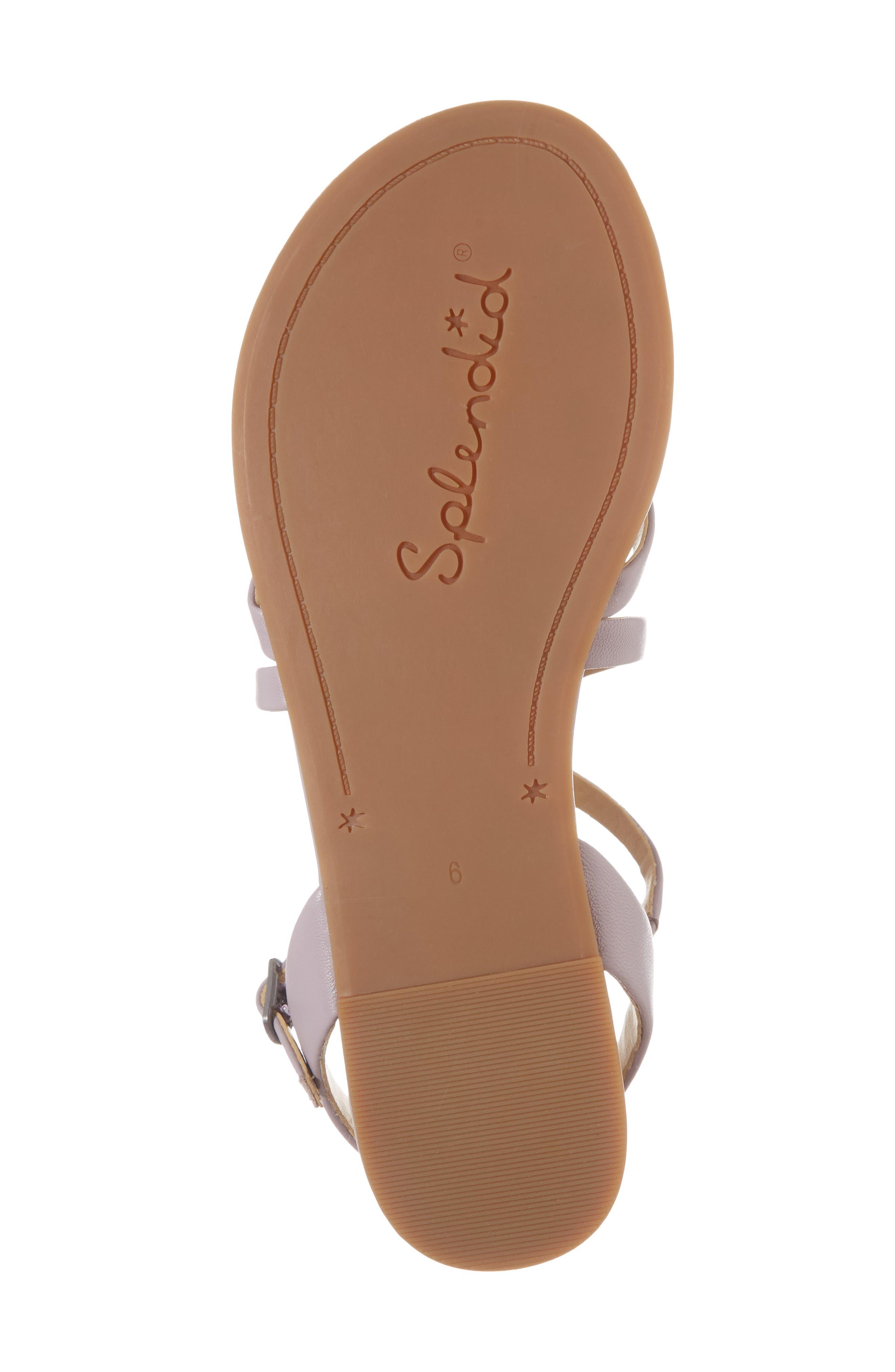 Brett Strappy Flat Sandal,                             Alternate thumbnail 6, color,                             Wisteria Leather