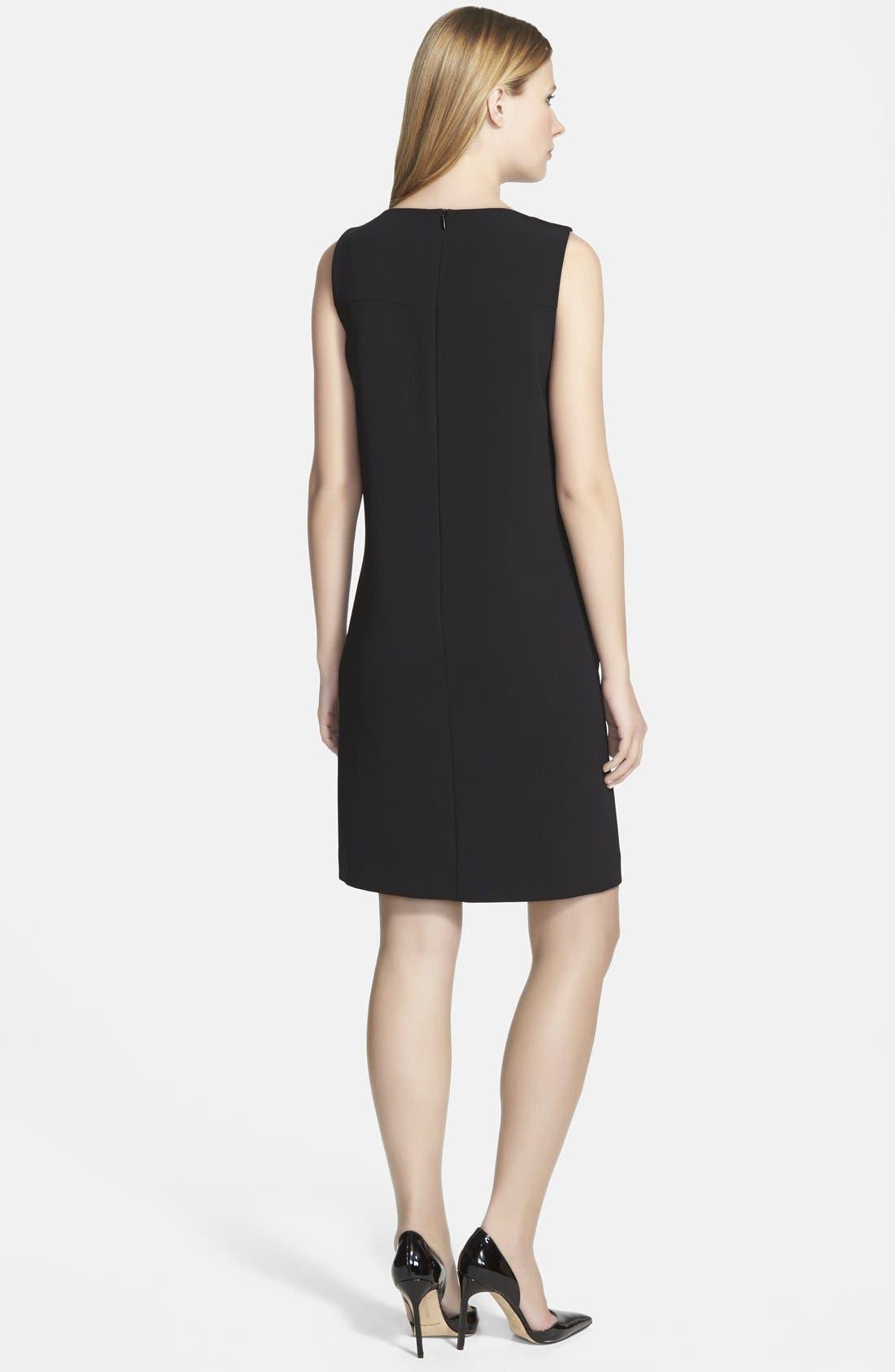 Alternate Image 2  - BOSS 'Dalomi' Tweed Panel Shift Dress