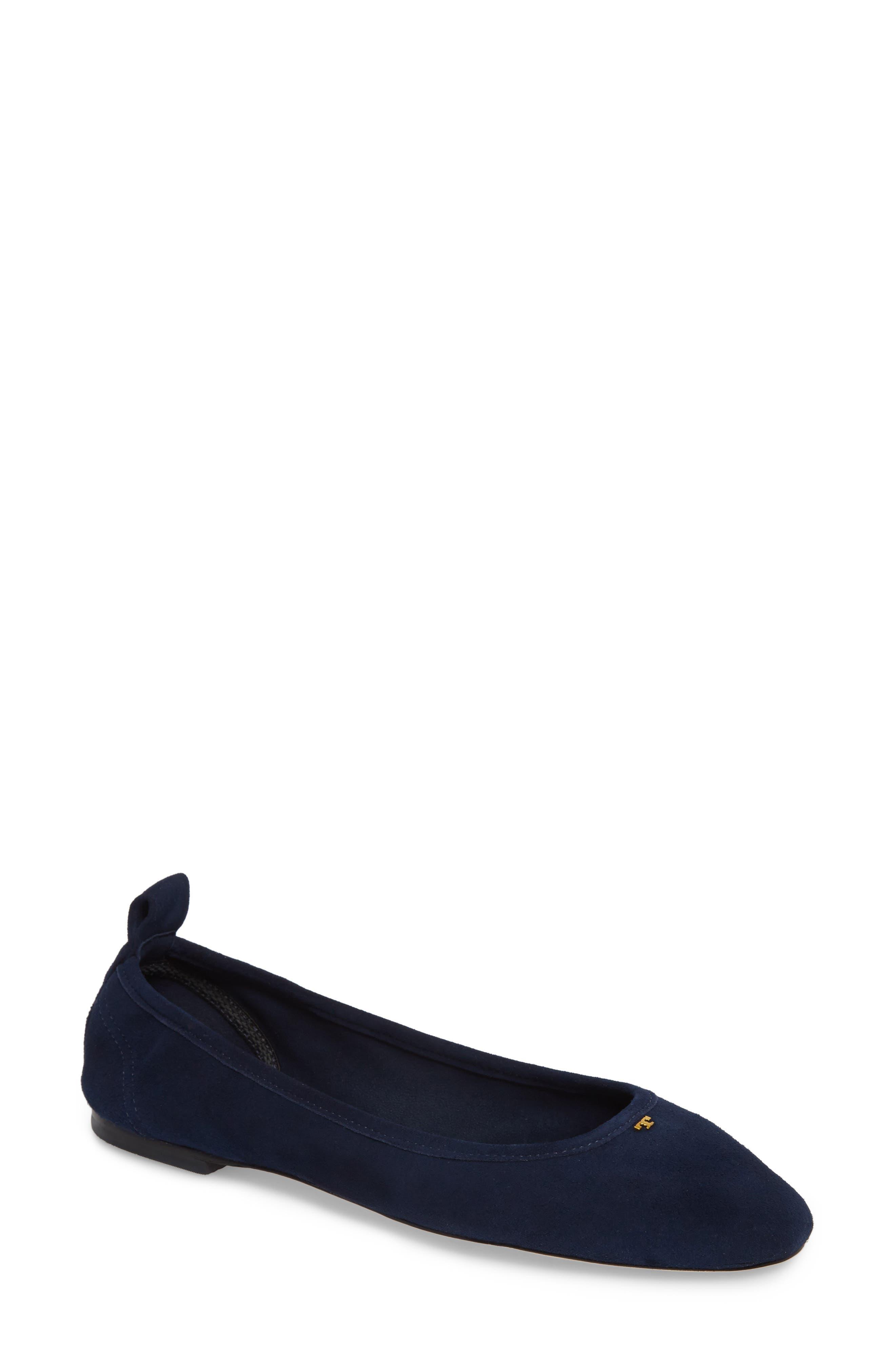 Therese Ballet Flat,                             Main thumbnail 1, color,                             Royal Navy