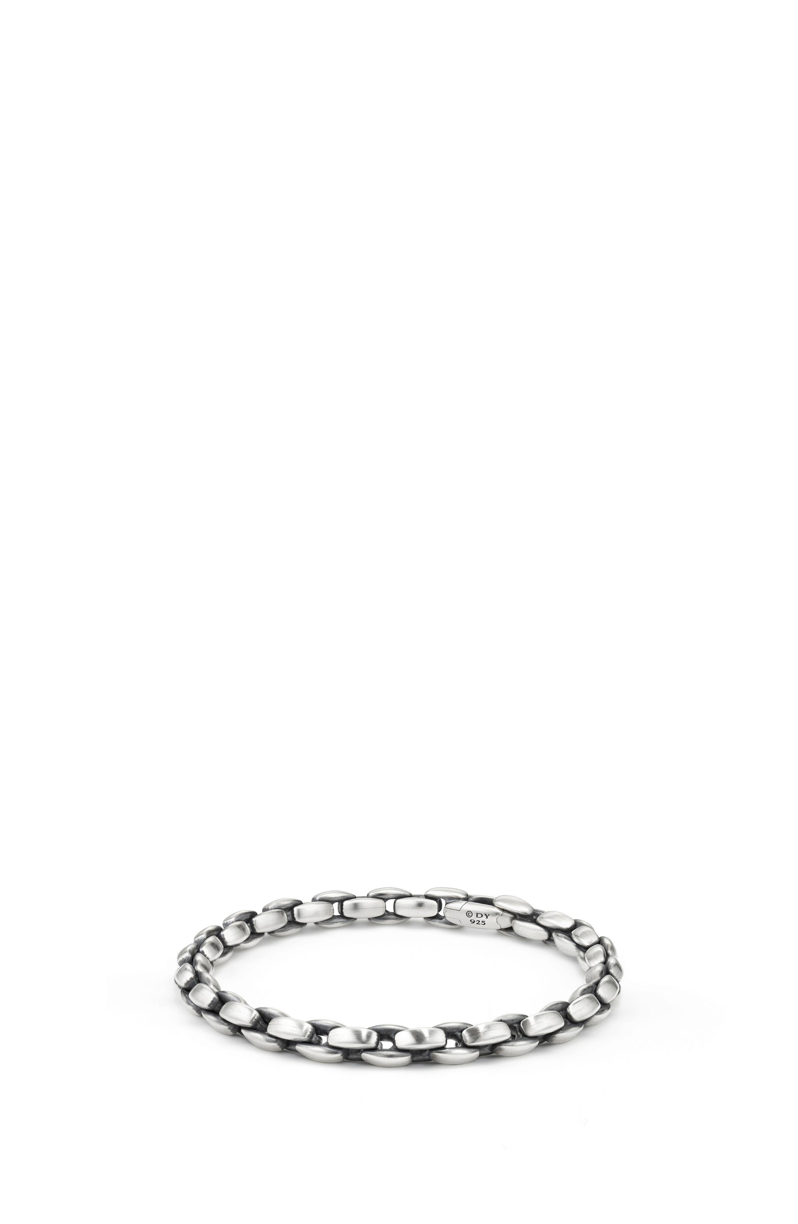 Elongated Box Chain Bracelet, 6mm,                         Main,                         color, Silver