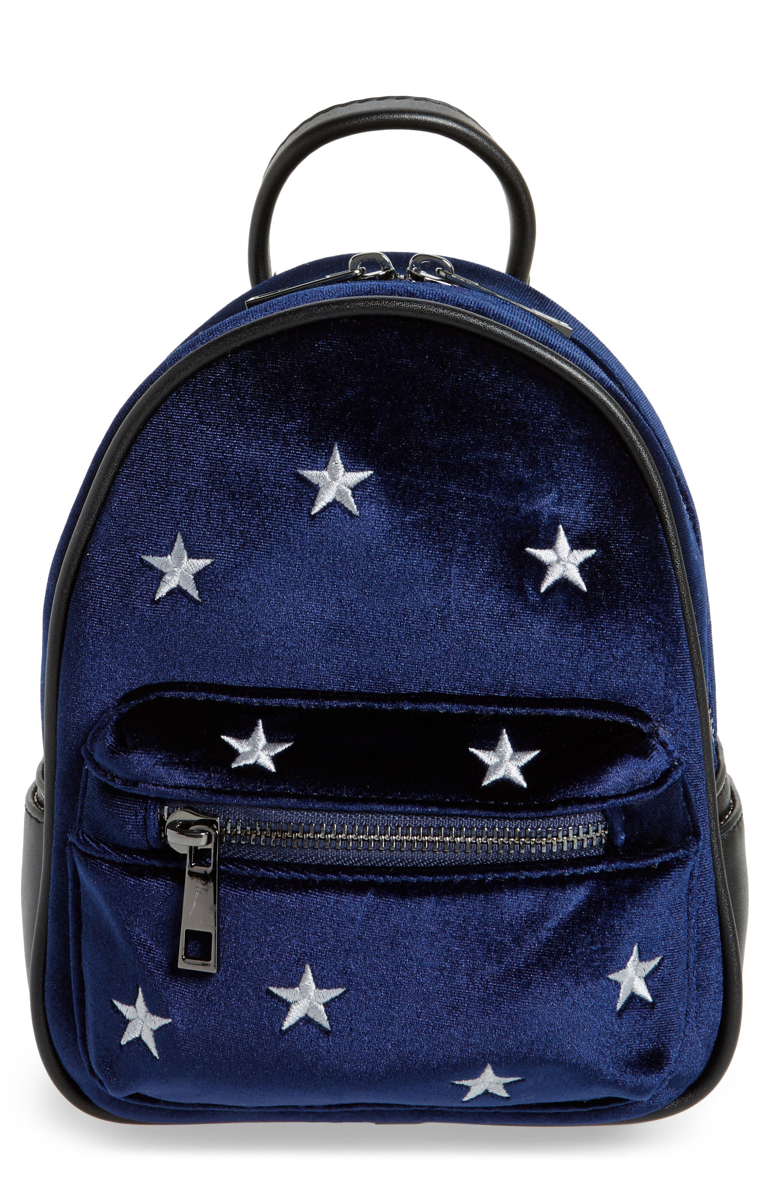 BP. Mini Embroidered Velvet Convertible Backpack