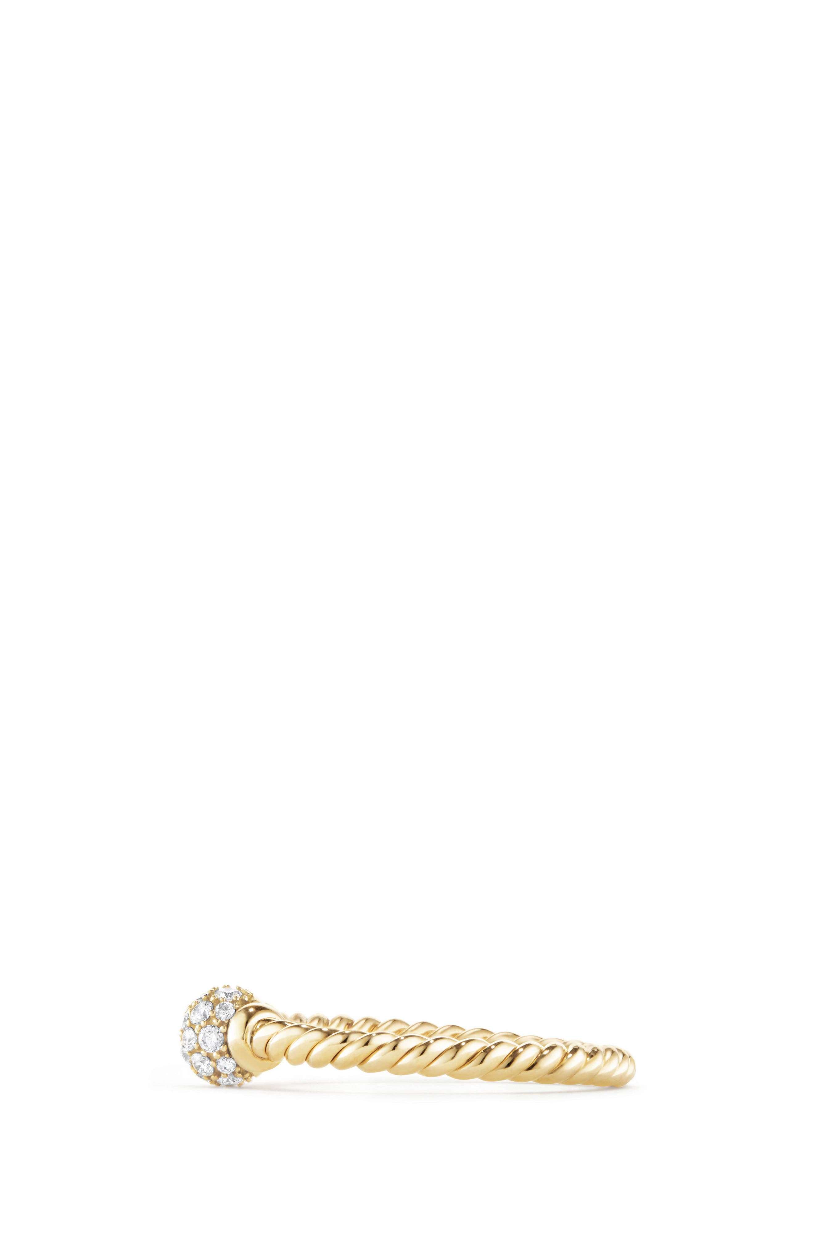 Solari Station Ring with Diamonds in 18K Gold,                             Alternate thumbnail 3, color,                             Yellow Gold/ Diamond