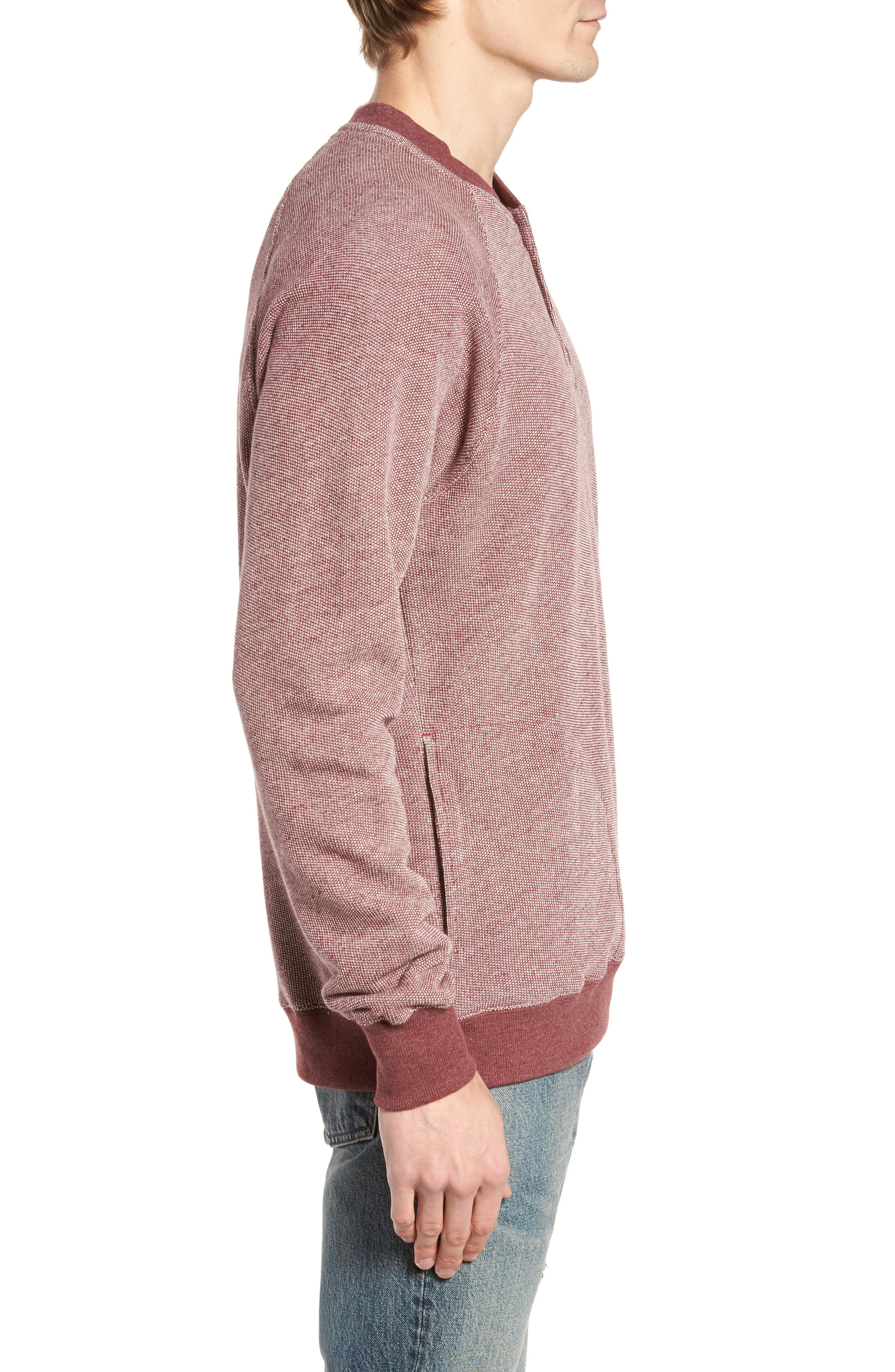Capo Henley Pullover,                             Alternate thumbnail 3, color,                             Tawny Port