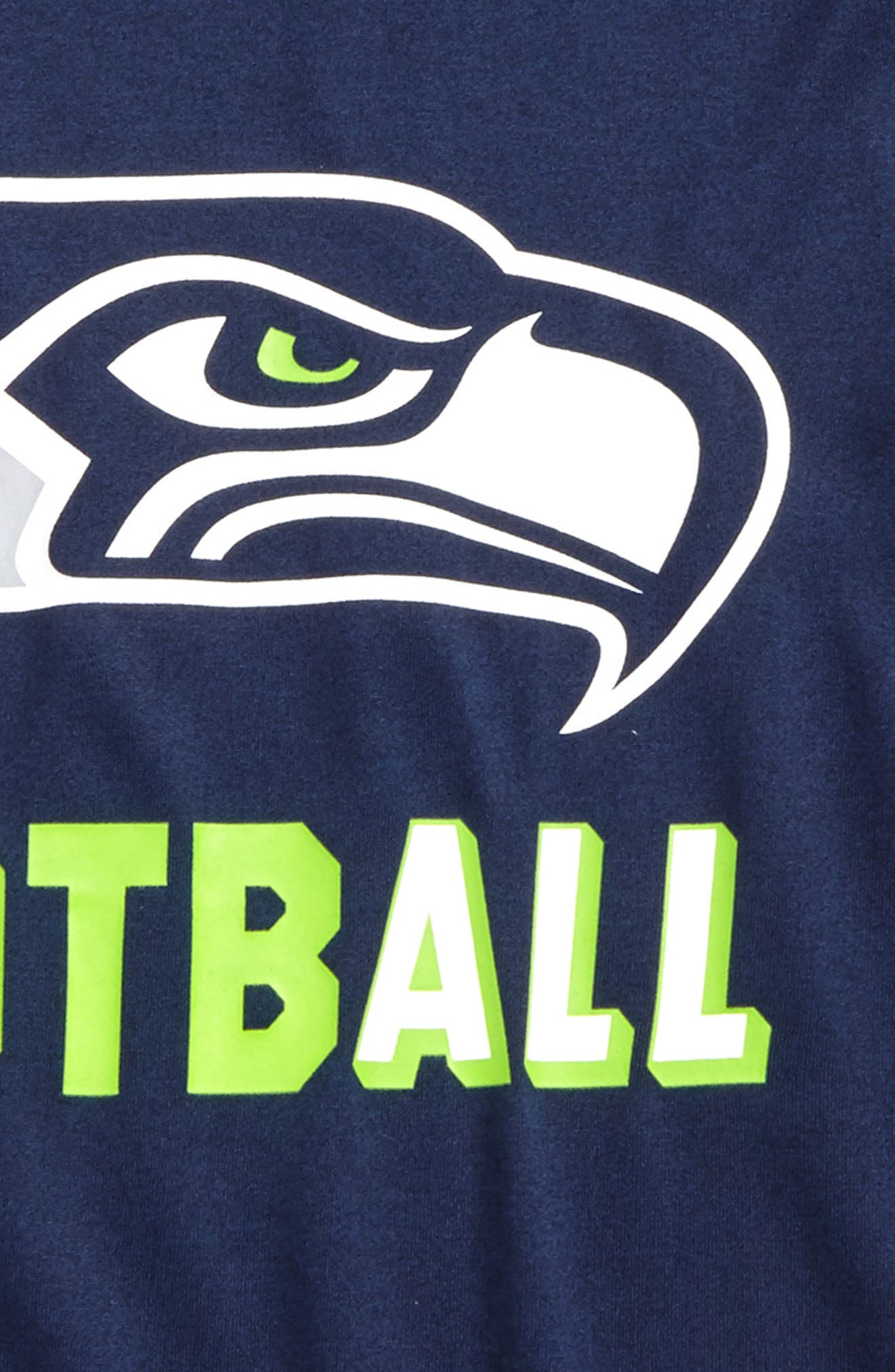 Nike NFL Logo - Seattle Seahawks Dry T-Shirt,                             Alternate thumbnail 2, color,                             College Navy