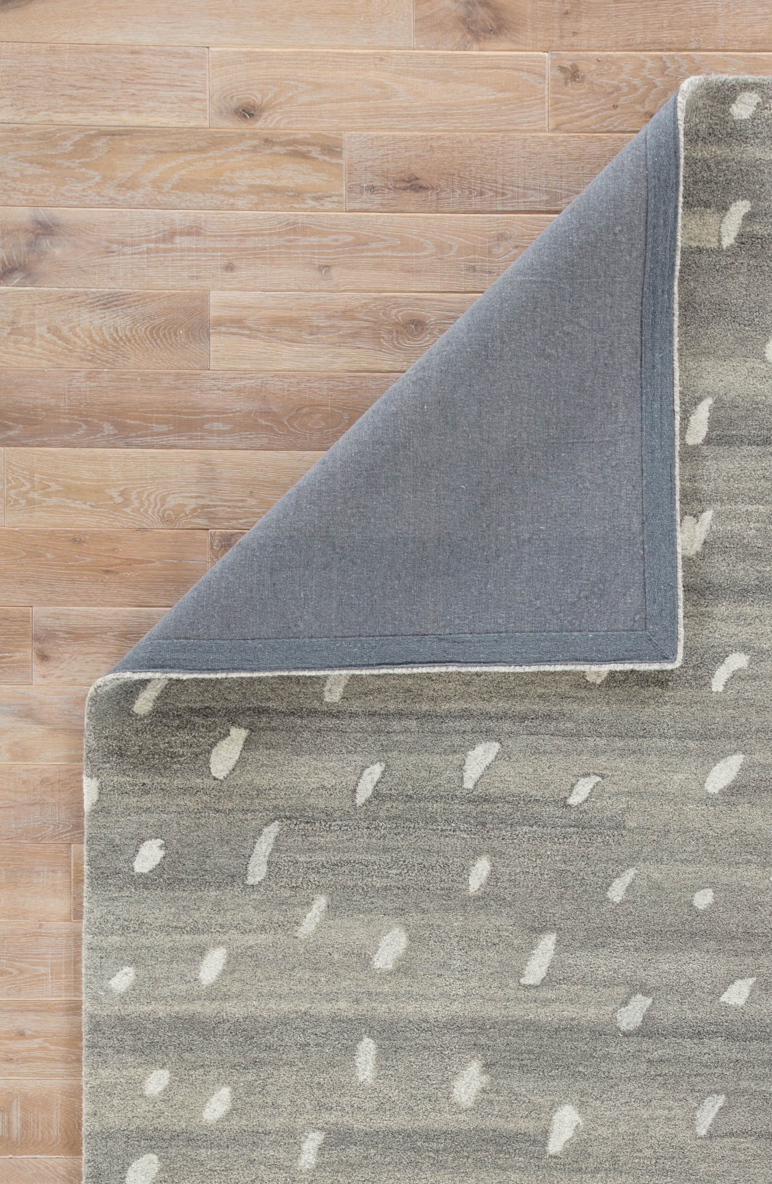 gramercy wool rug,                             Alternate thumbnail 4, color,                             Heather Gray