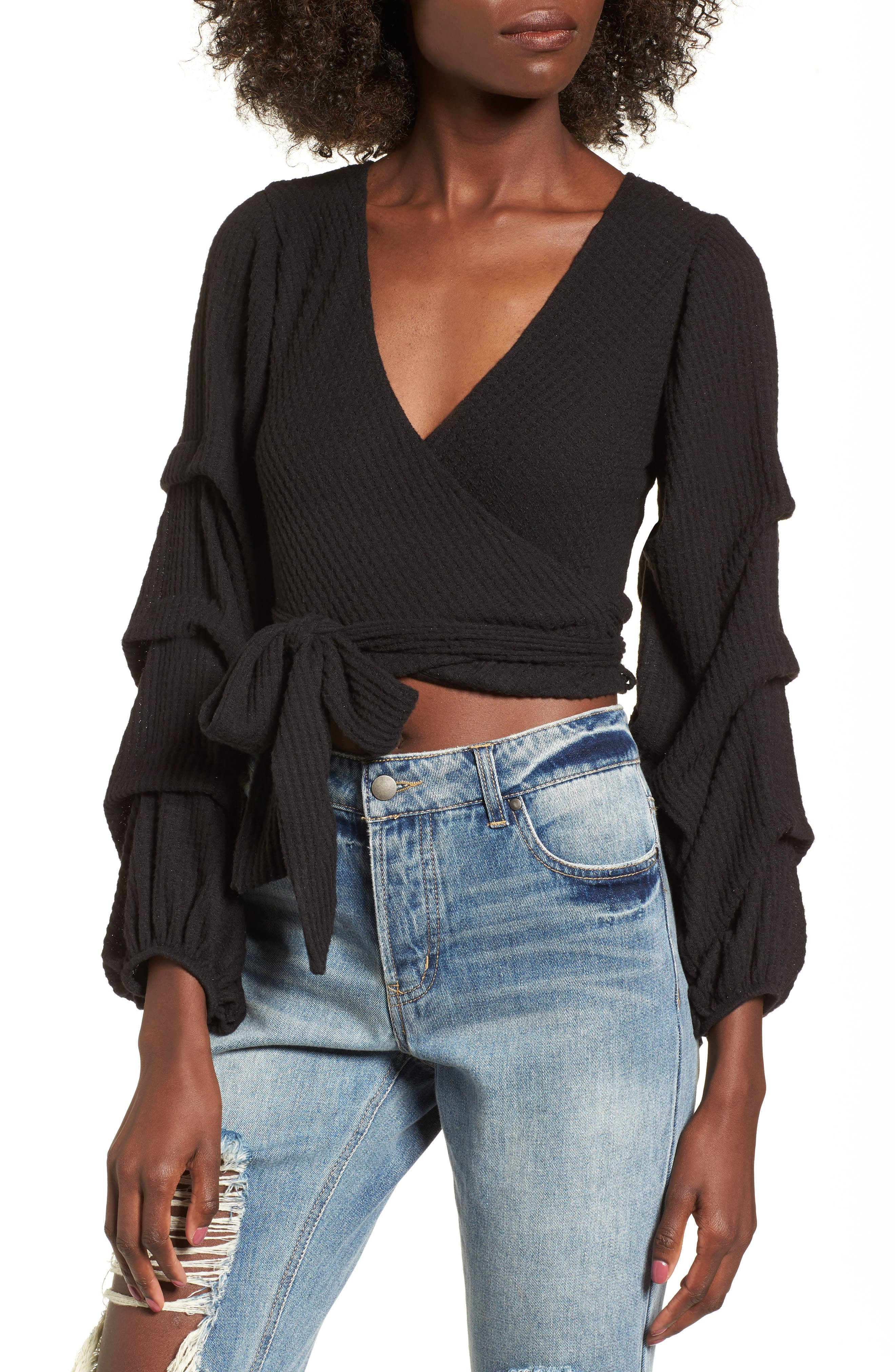 Alternate Image 1 Selected - 4SI3NNA Wrap Sweater