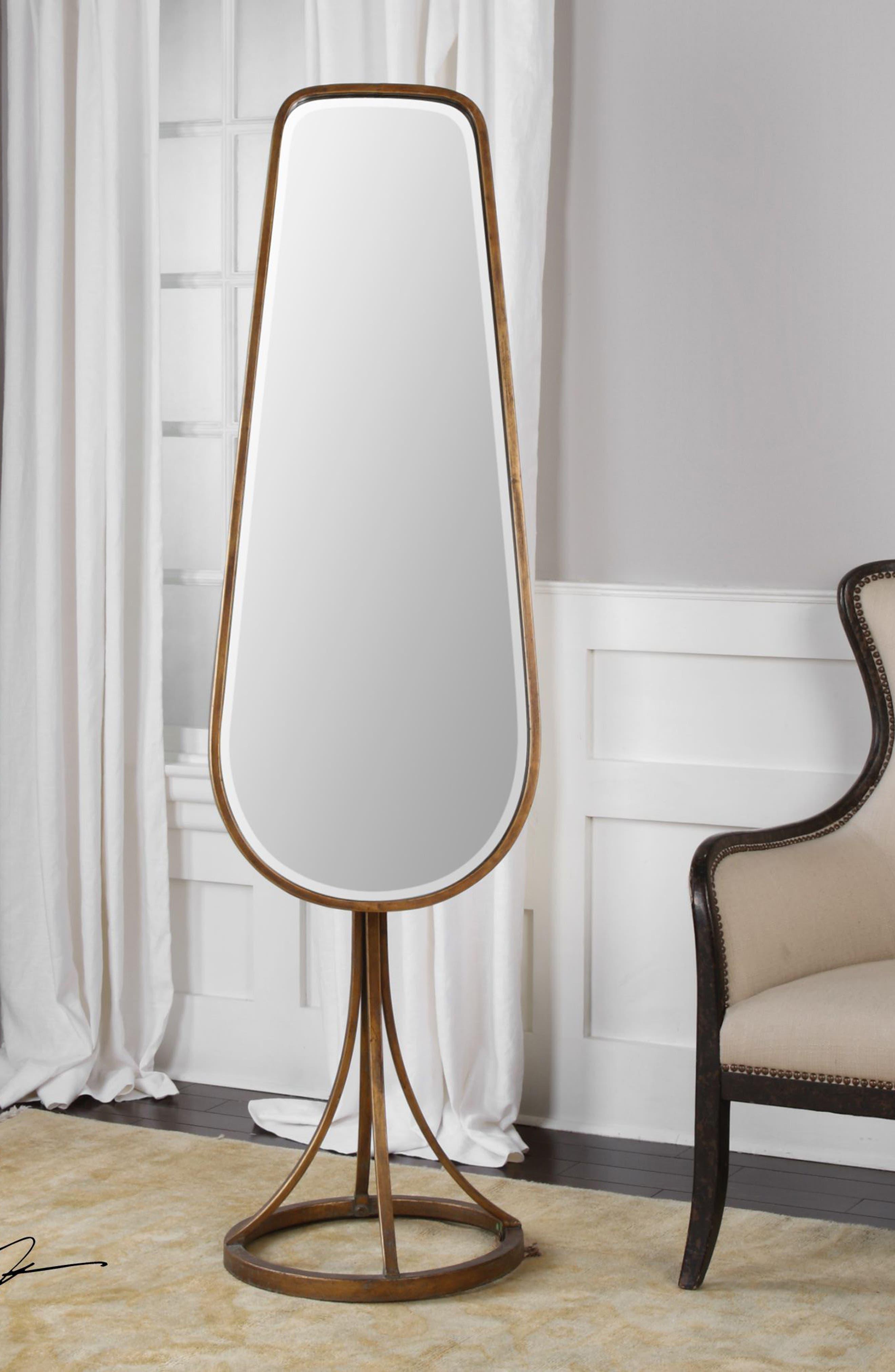 Gavar Cheval Floor Mirror,                             Alternate thumbnail 2, color,                             Brown