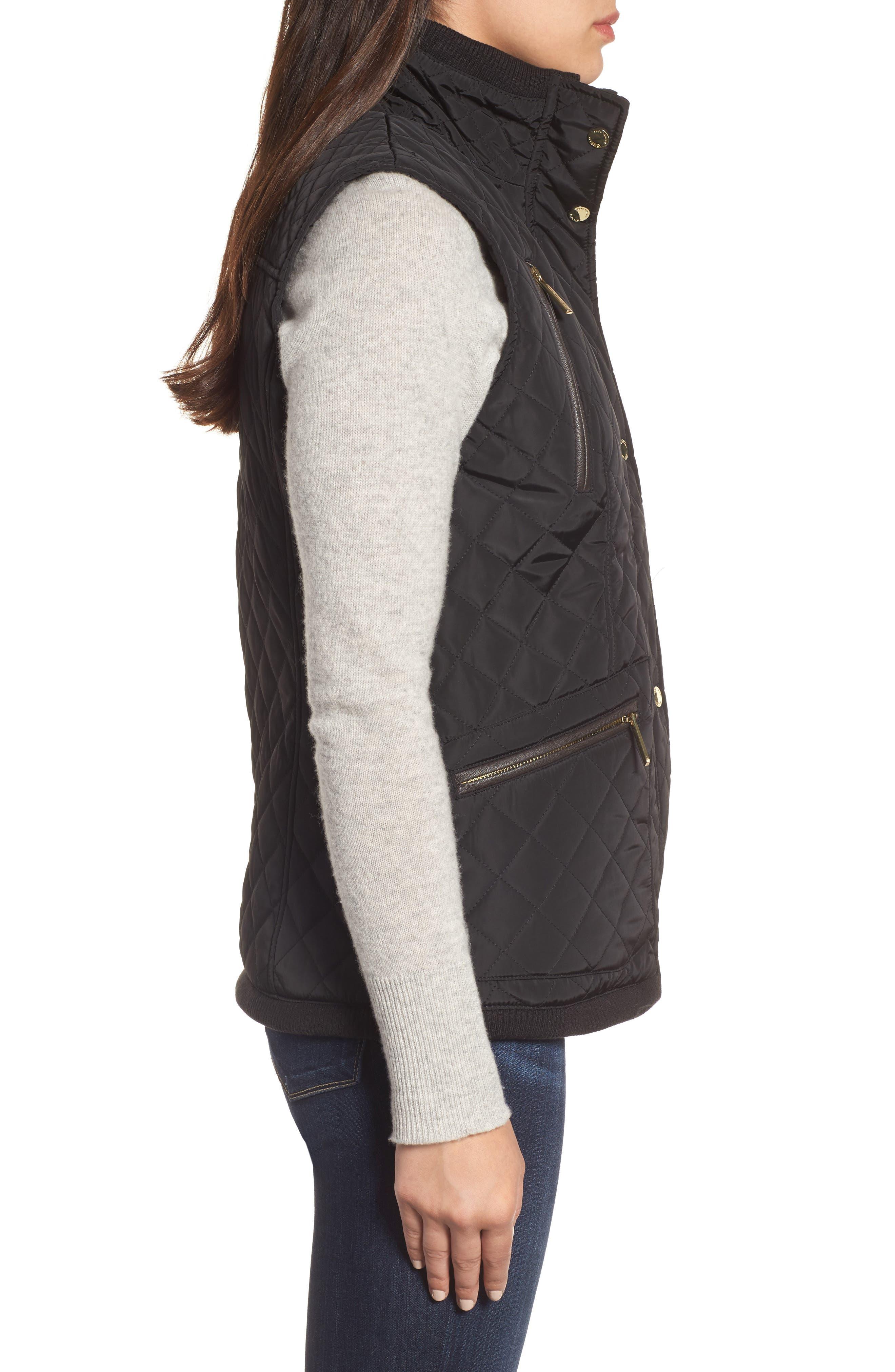 Alternate Image 3  - MICHAEL Michael Kors Diamond Quilted Vest (Regular & Petite)