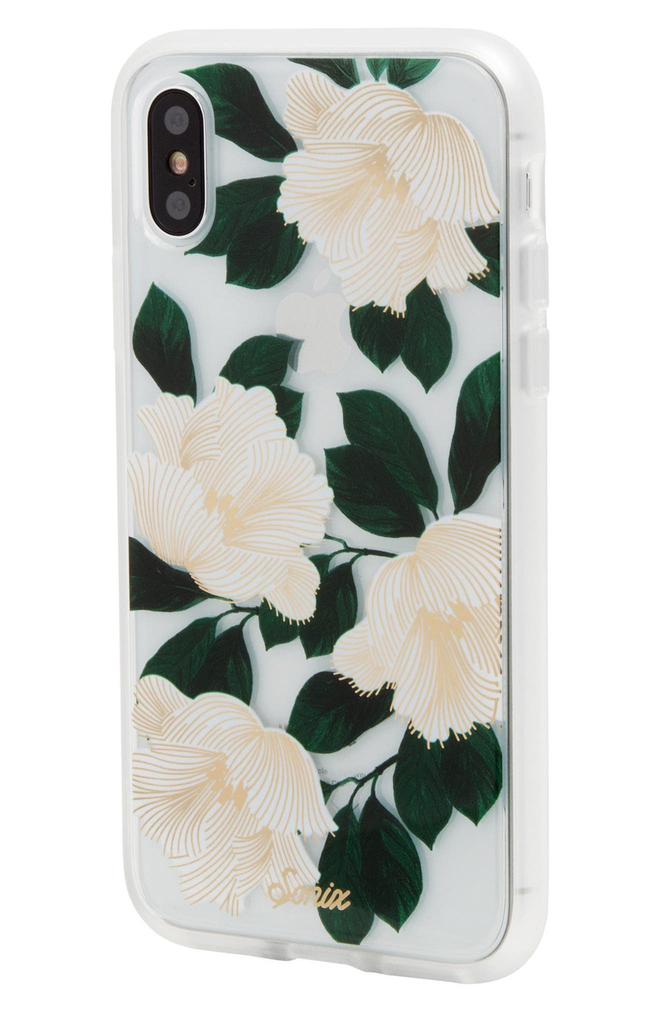 Tropical Deco iPhone X Case,                             Alternate thumbnail 2, color,                             White