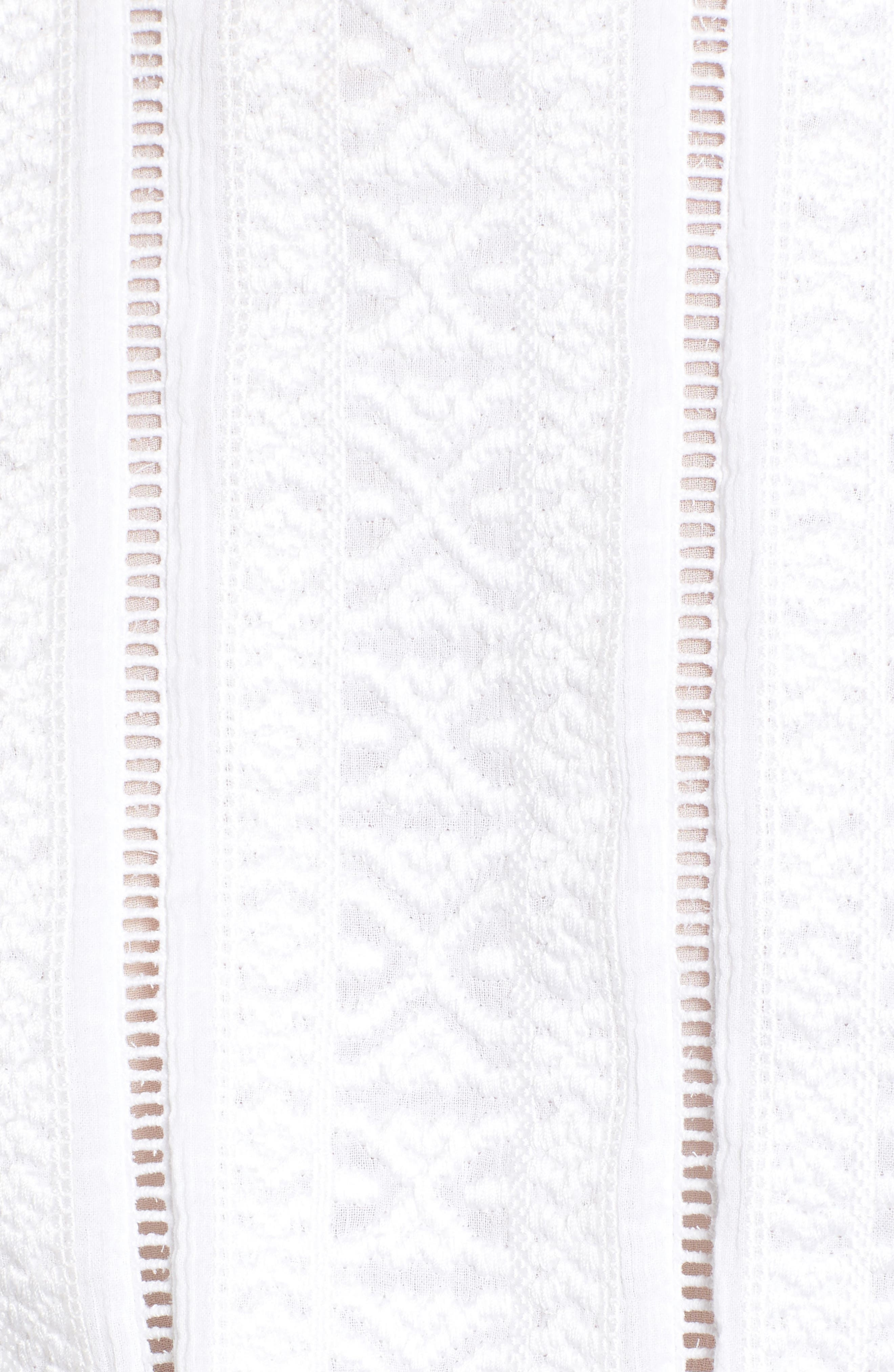 Venice Tie Hem Top,                             Alternate thumbnail 5, color,                             White