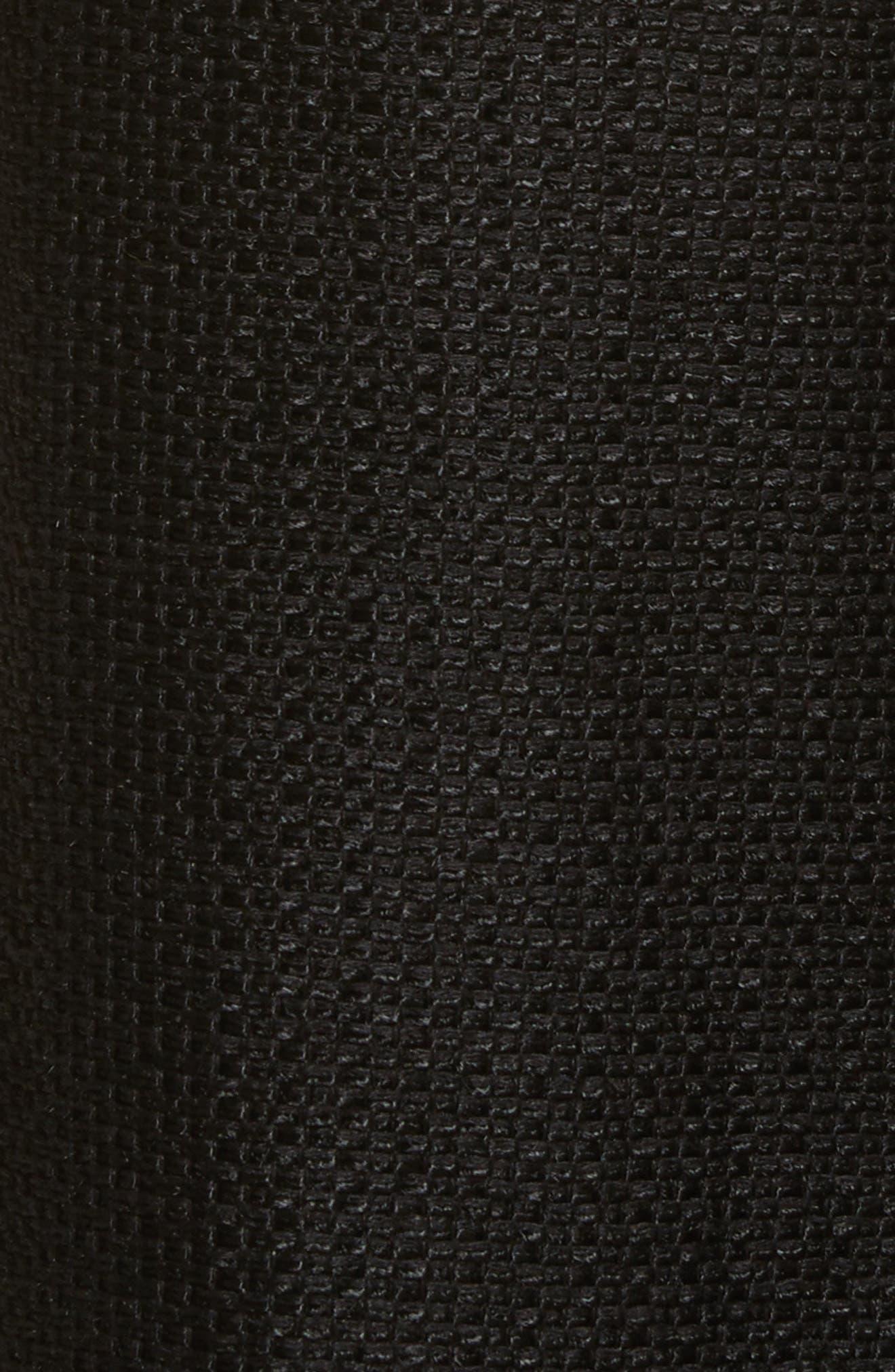 Tweed Pants,                             Alternate thumbnail 6, color,                             Black