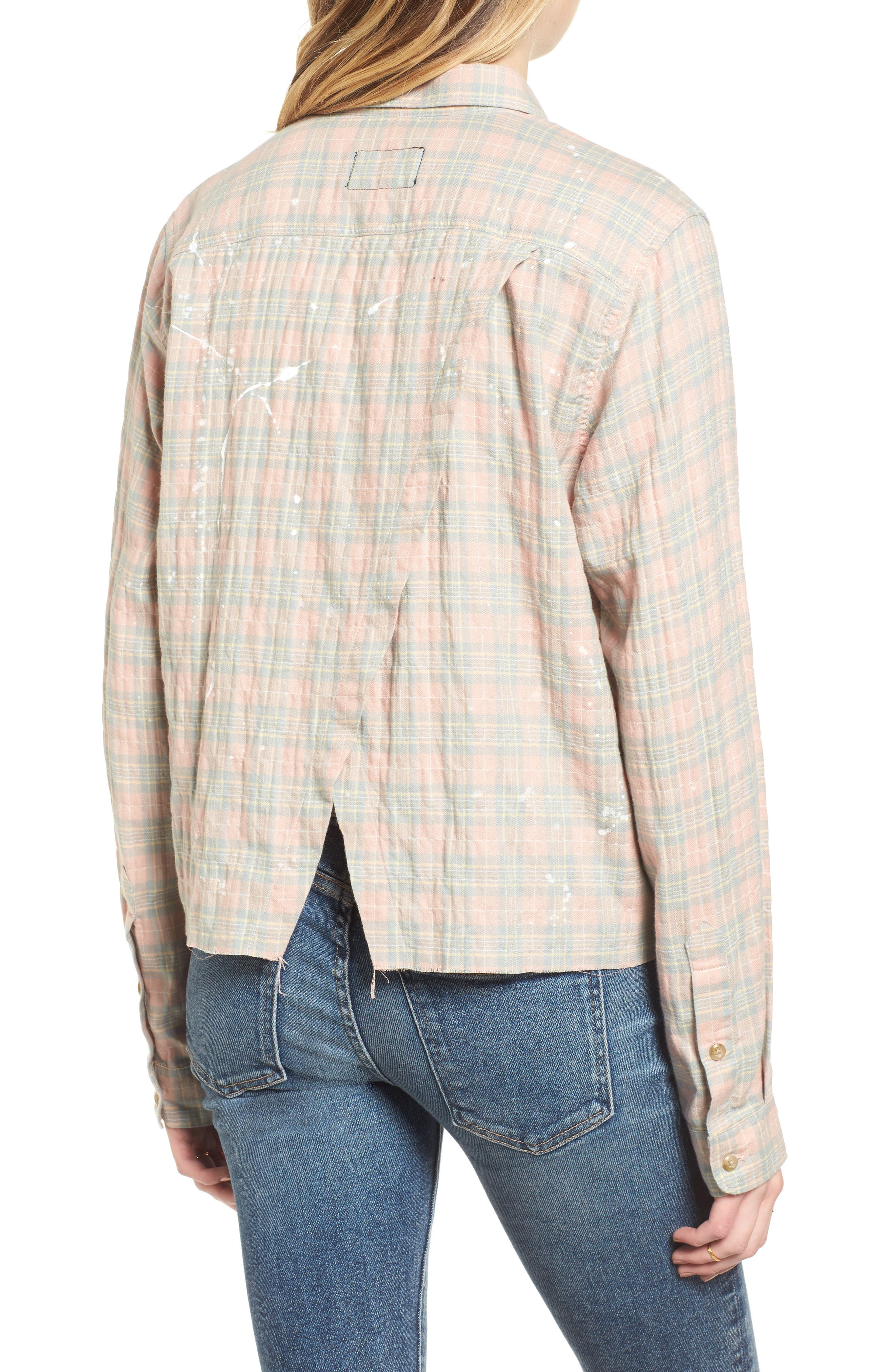 The Ivie Plaid Shirt,                             Alternate thumbnail 2, color,                             Sunshine Plaid
