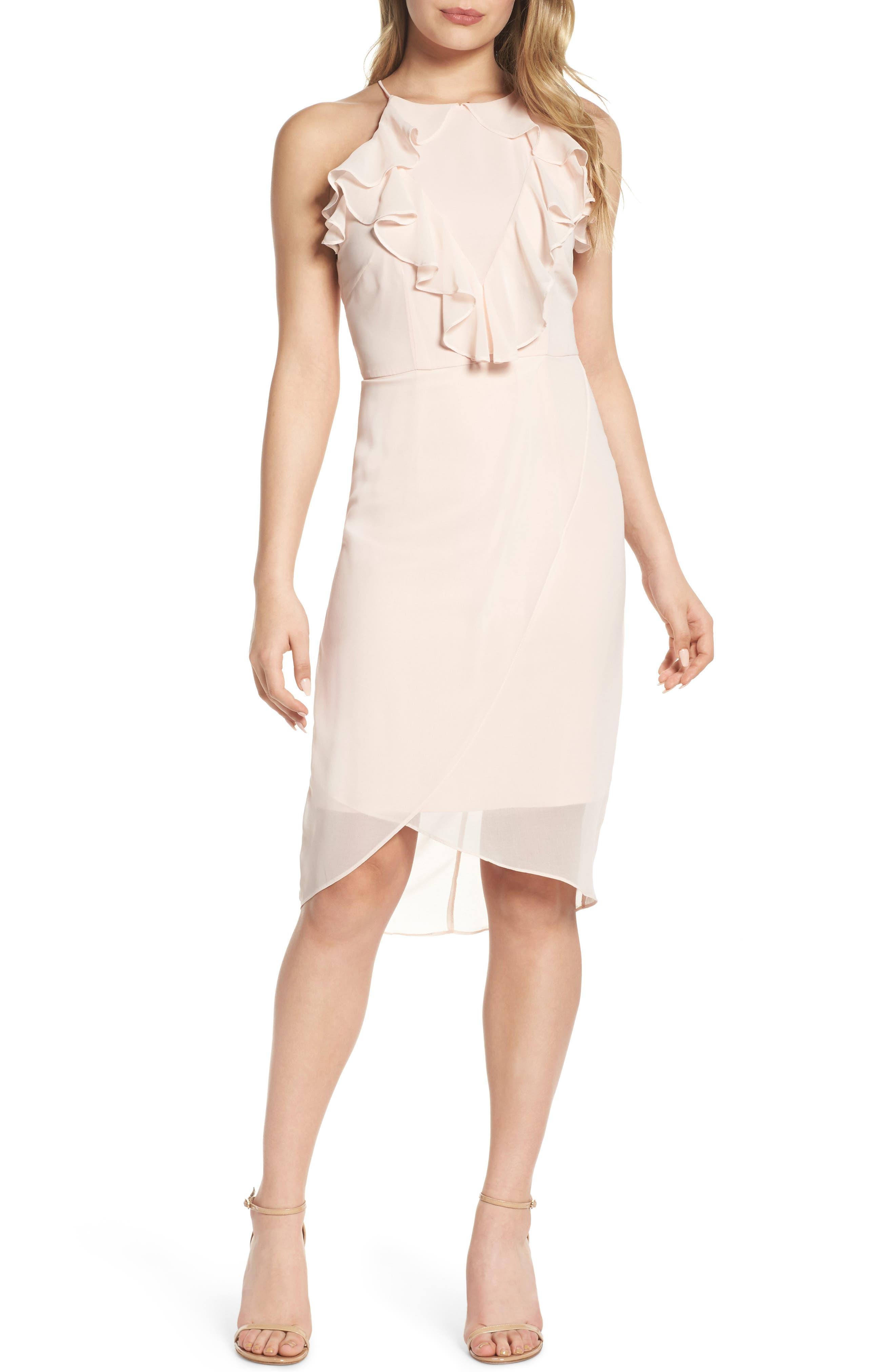 Mystique Charm Midi Dress,                         Main,                         color, Shell