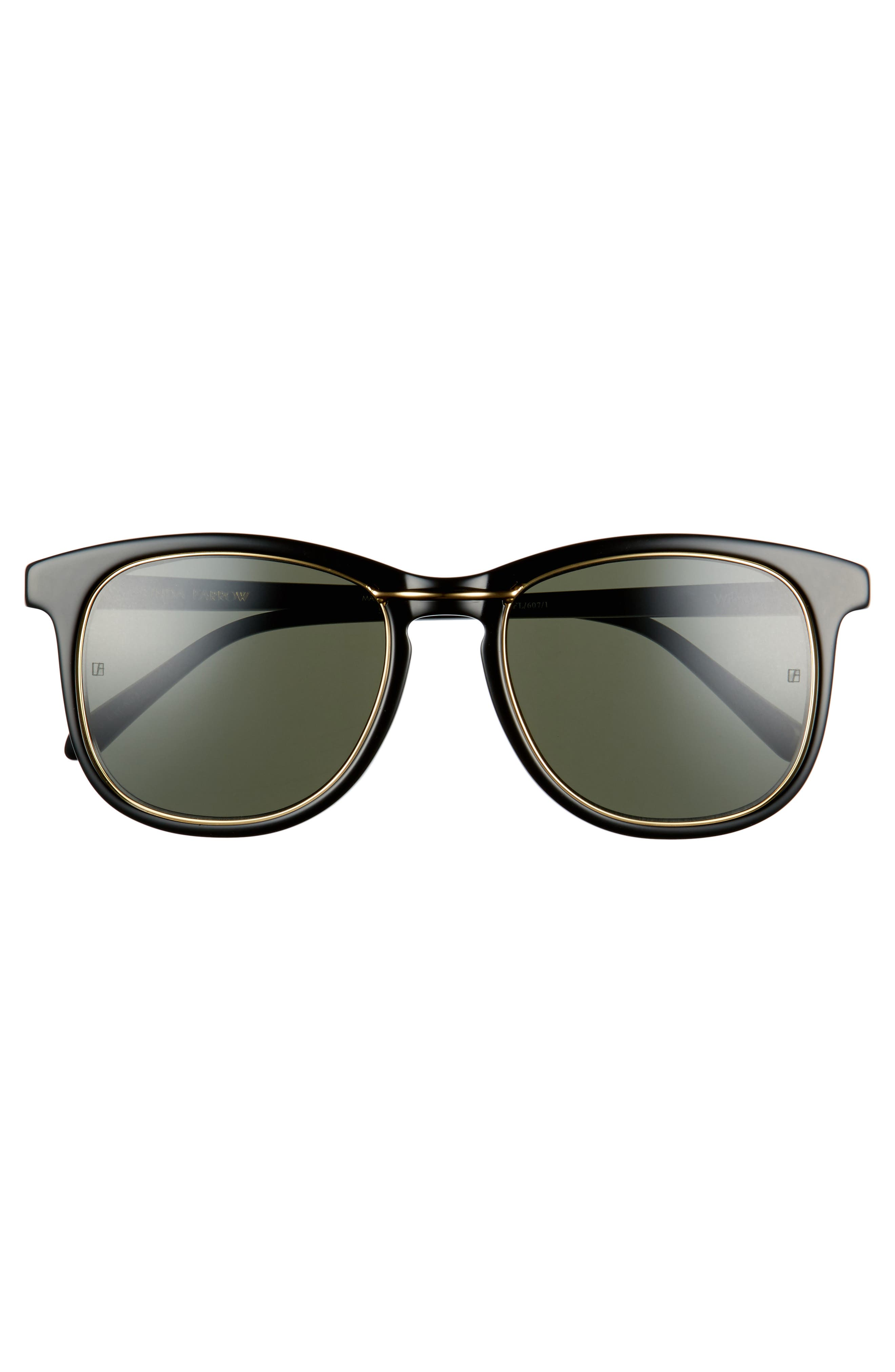 53mm Sunglasses,                             Alternate thumbnail 2, color,                             Wilmott Black/ Yellow Gold