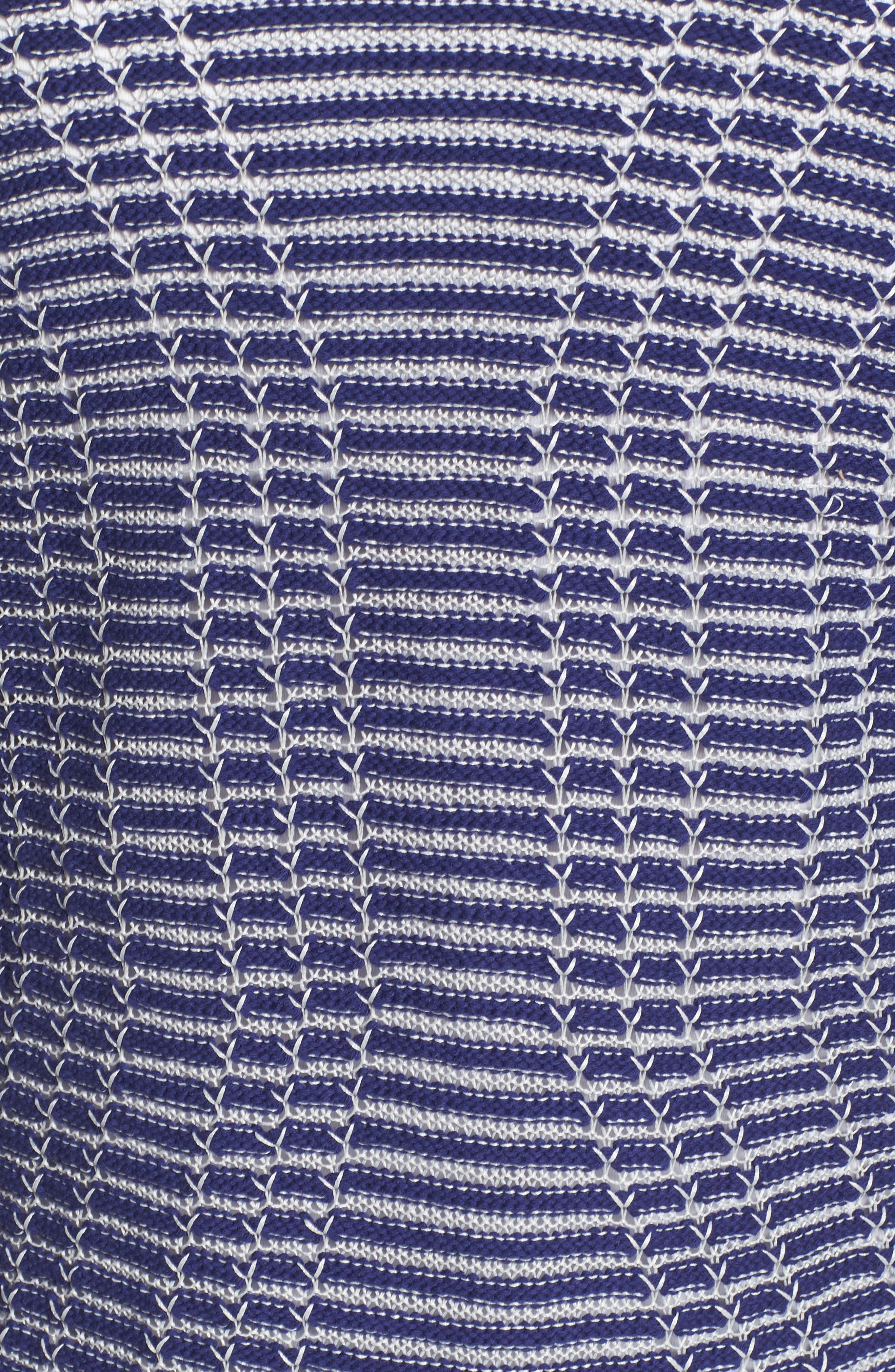 Striped Space Cardigan,                             Alternate thumbnail 5, color,                             Electric Blue