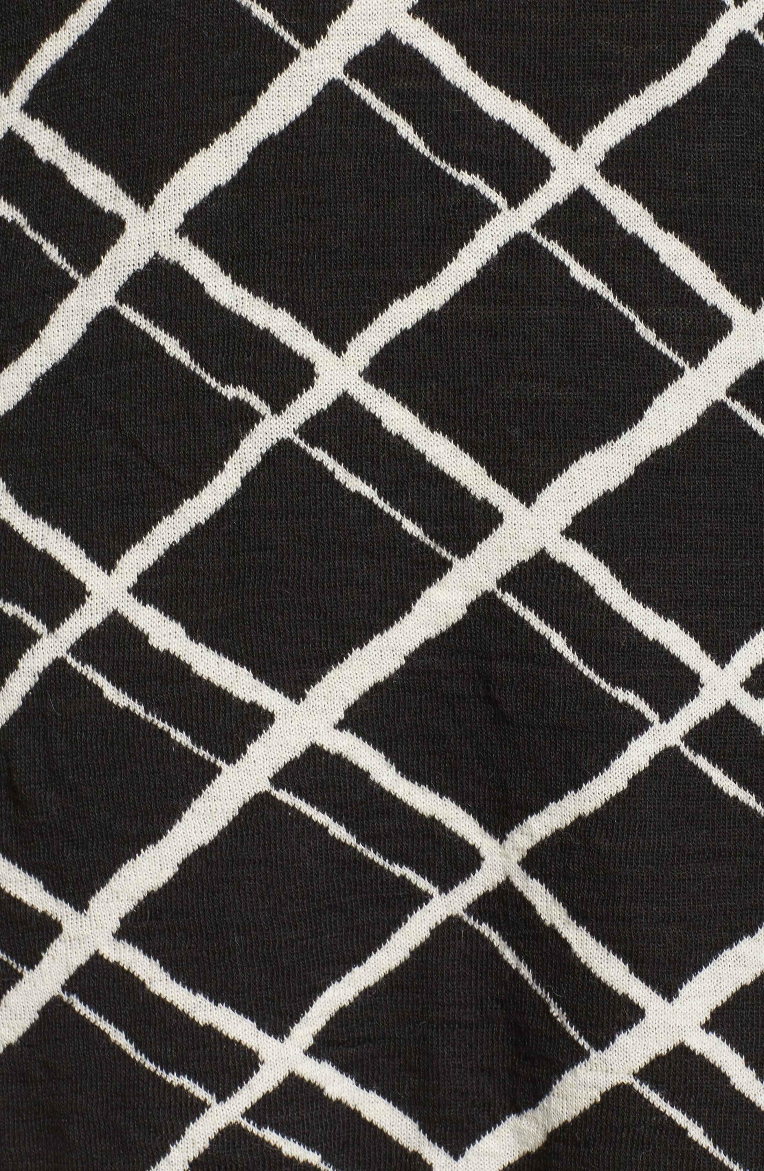 Alternate Image 5  - Persona by Marina Rinaldi Genesi Checkered Knit Dress (Plus Size)